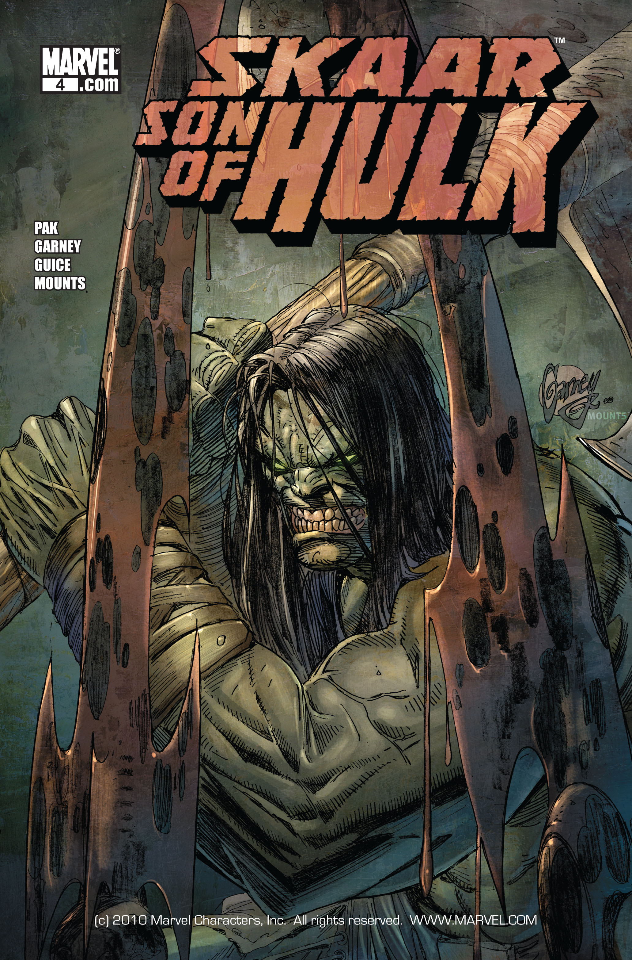 Read online Skaar: Son of Hulk comic -  Issue #4 - 1