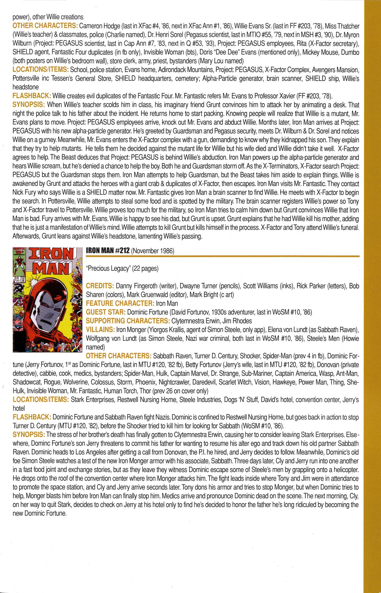 Read online Official Index to the Marvel Universe comic -  Issue #6 - 43