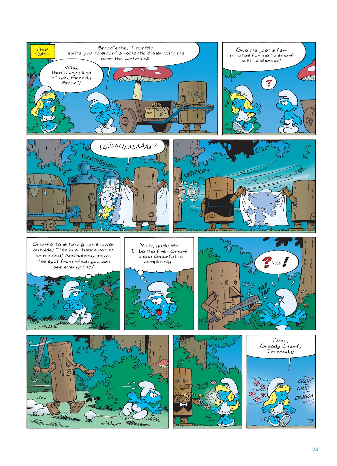 Read online The Smurfs comic -  Issue #23 - 24