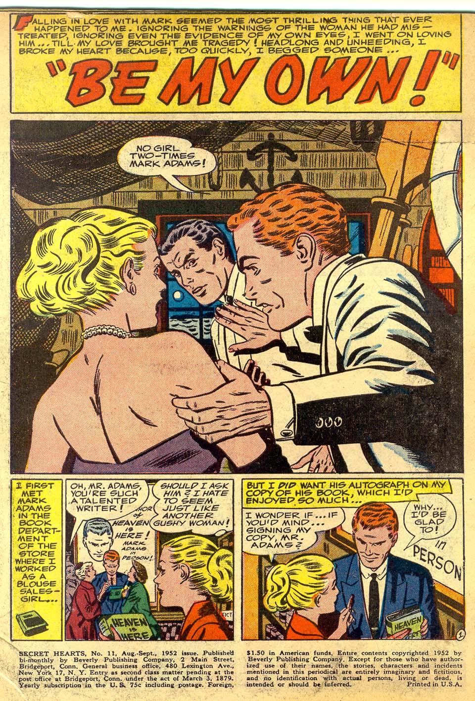 Read online Secret Hearts comic -  Issue #11 - 3