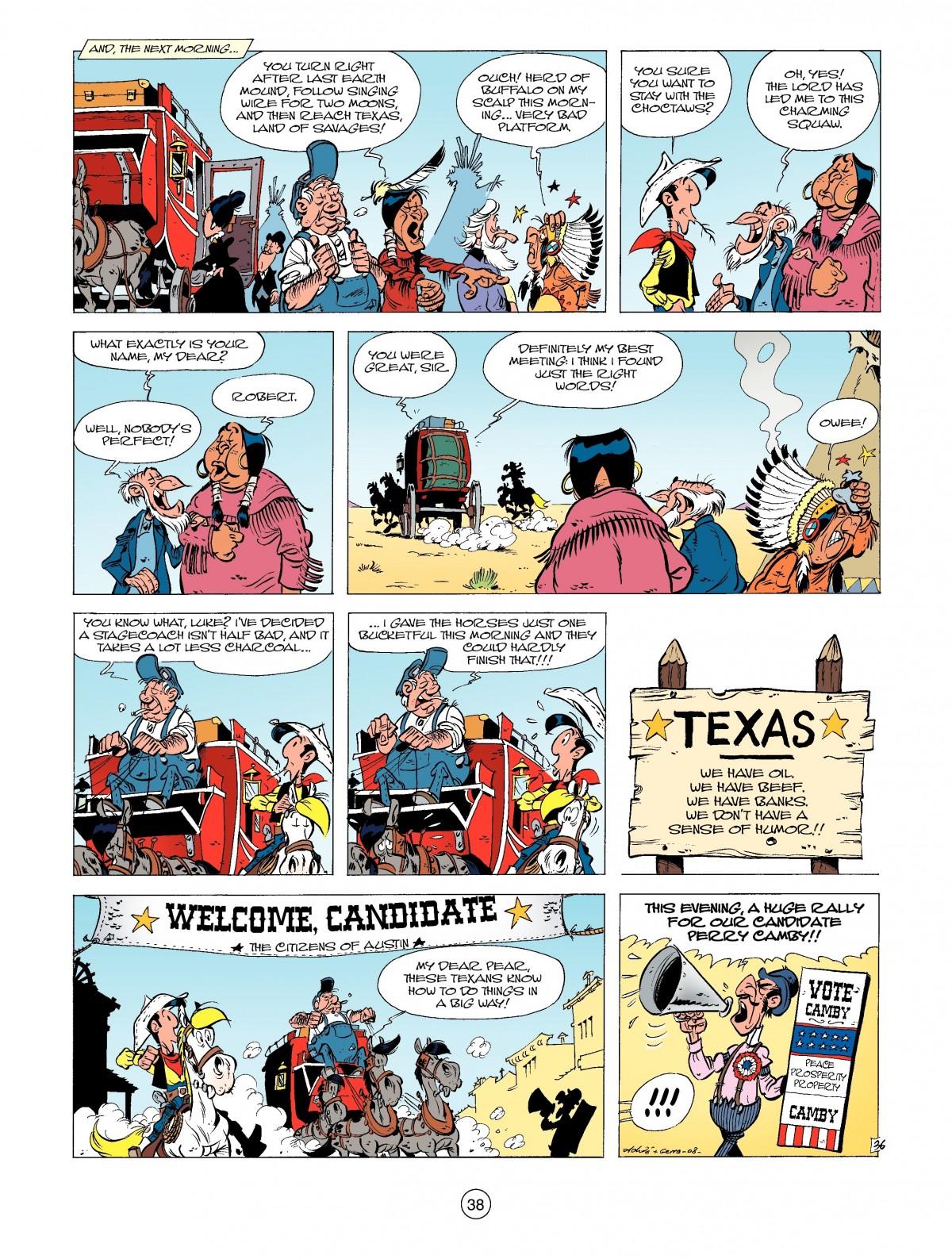 Read online A Lucky Luke Adventure comic -  Issue #39 - 38