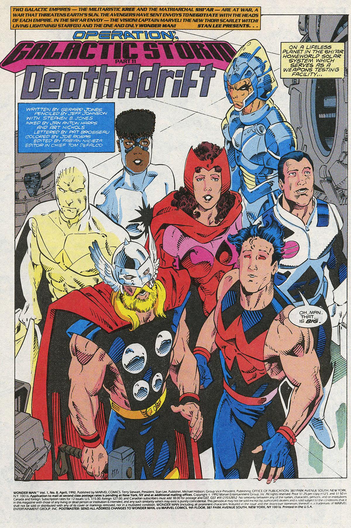 Read online Wonder Man (1991) comic -  Issue #8 - 2