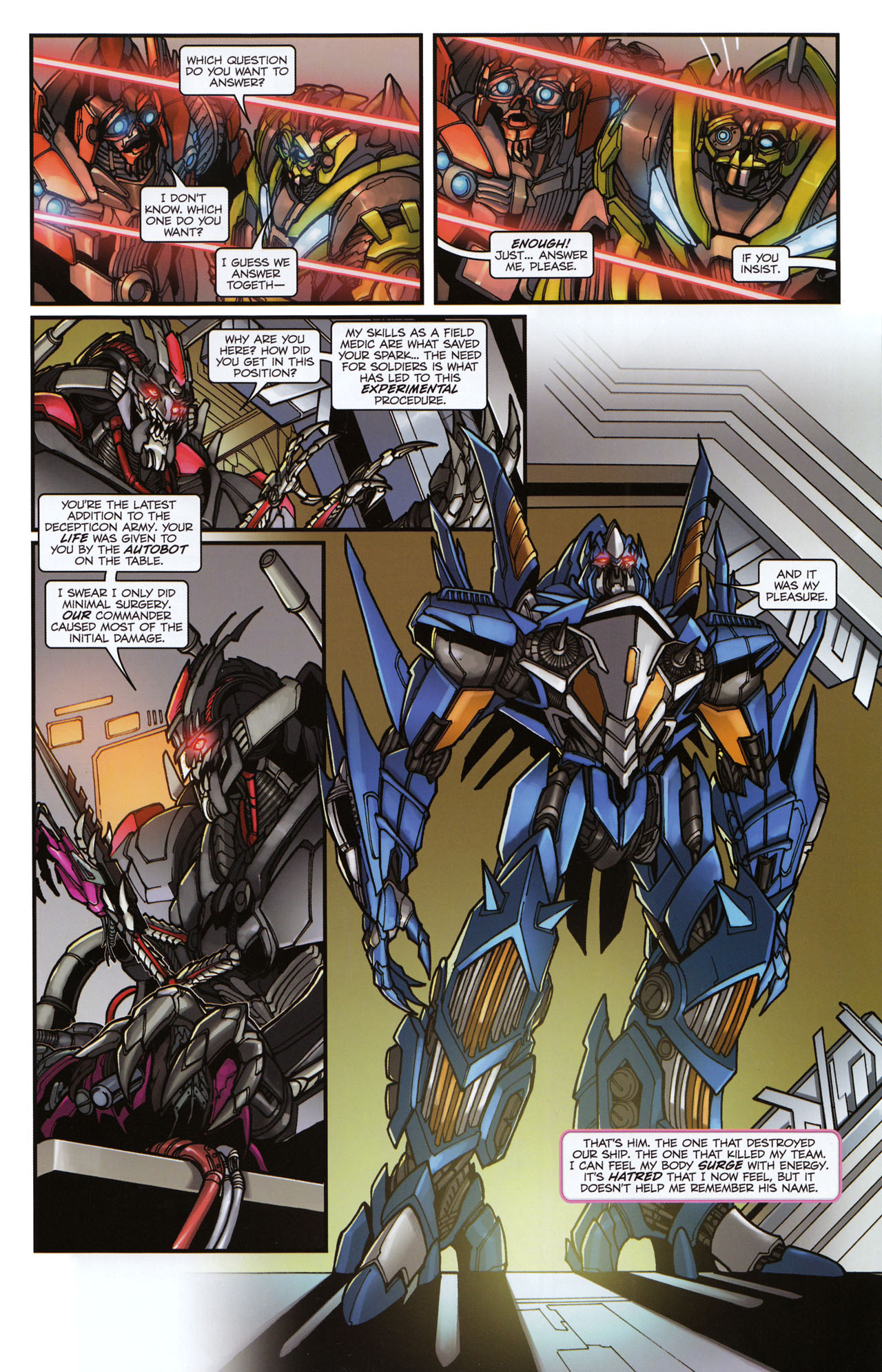 Read online Transformers: Tales of The Fallen comic -  Issue #6 - 7
