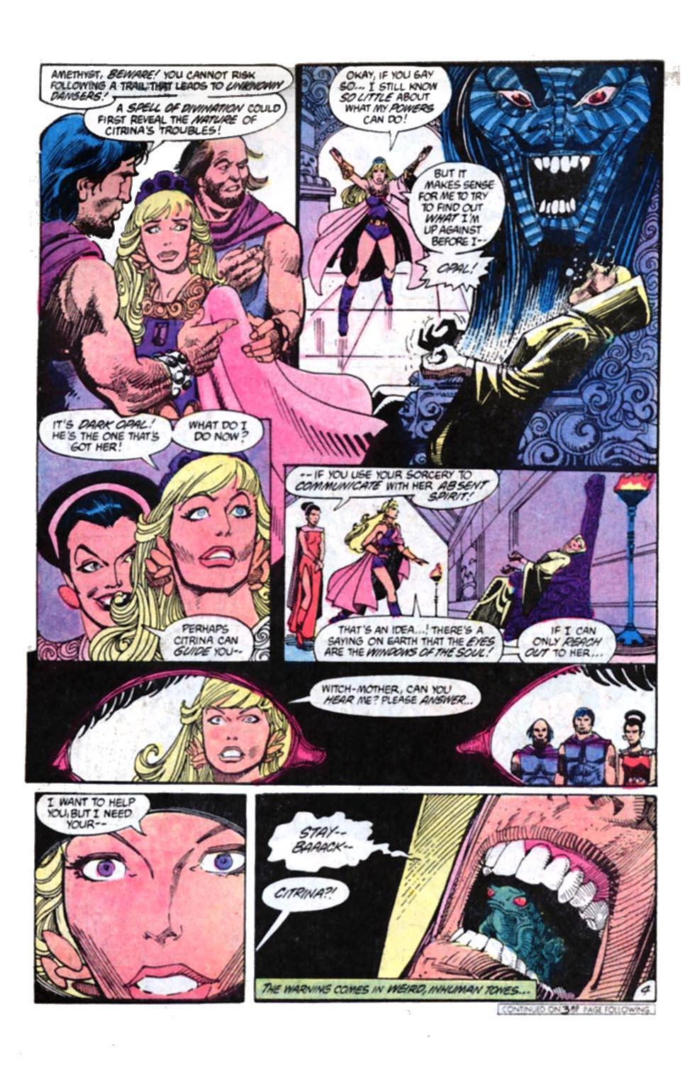Read online Amethyst, Princess of Gemworld comic -  Issue #4 - 5