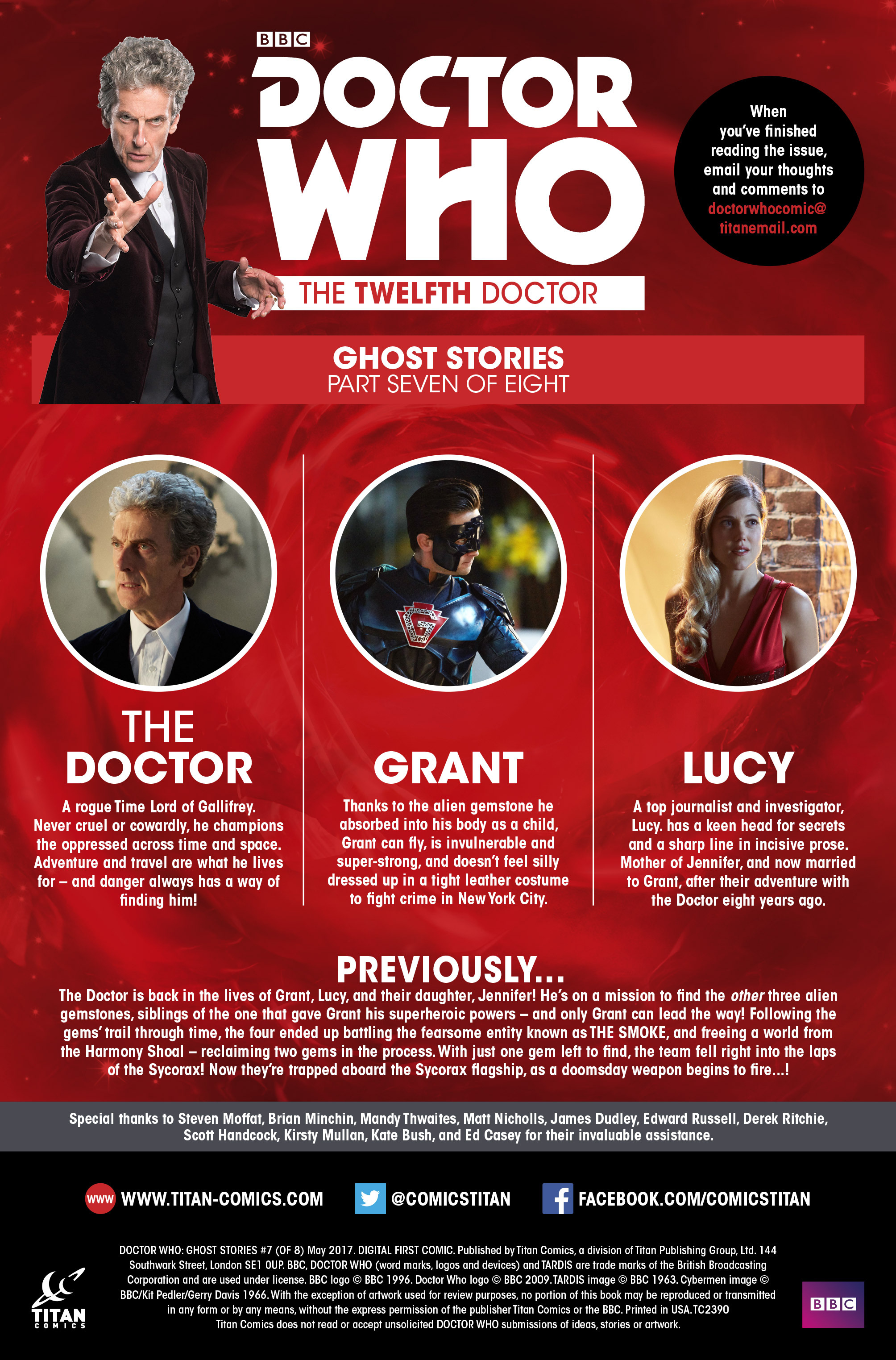 Read online Doctor Who: Ghost Stories comic -  Issue #7 - 2