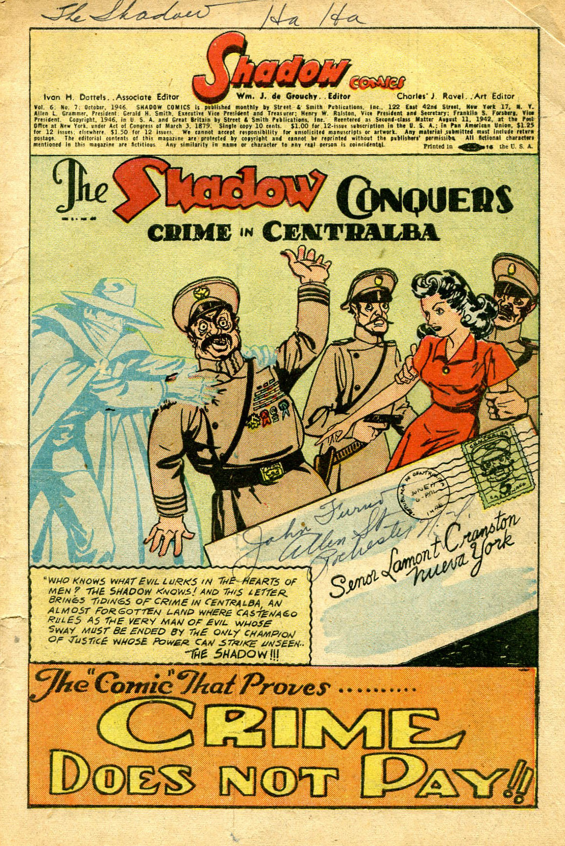 Read online Shadow Comics comic -  Issue #67 - 3