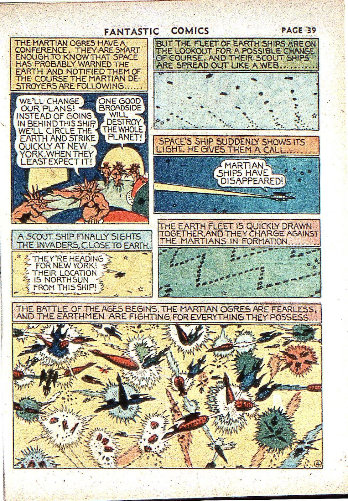 Read online Fantastic Comics comic -  Issue #2 - 40
