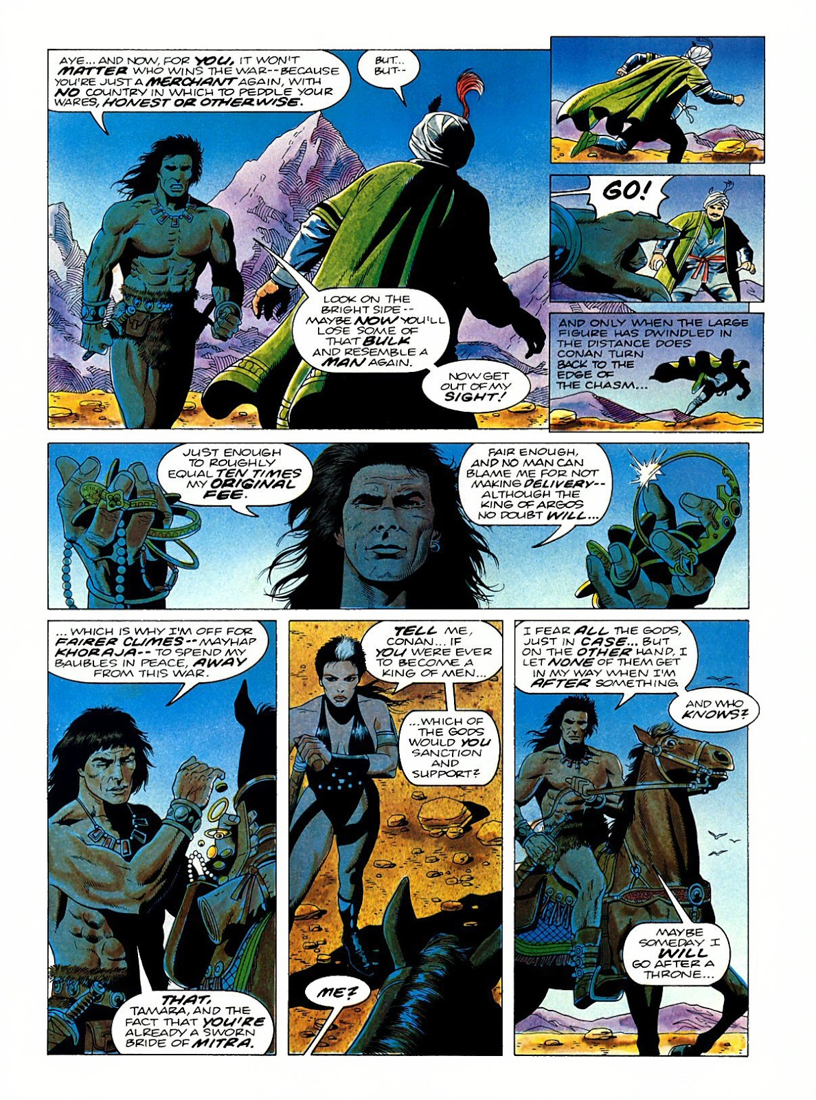 Read online Marvel Graphic Novel: Conan the Barbarian: The Skull of Set comic -  Issue # Full - 62