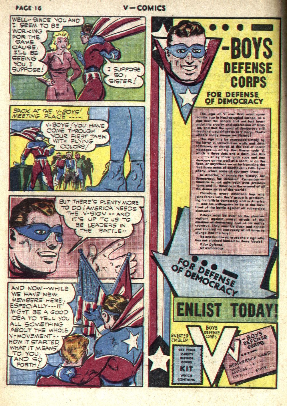 Read online V...- Comics comic -  Issue #1 - 18
