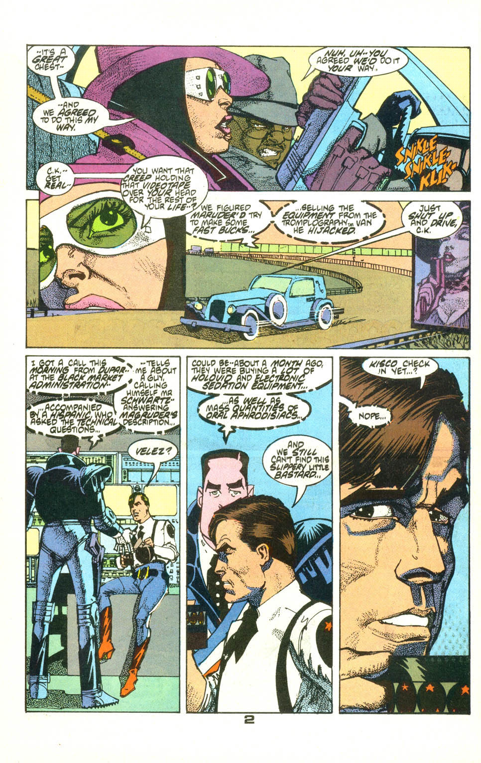 Read online American Flagg! comic -  Issue #22 - 3