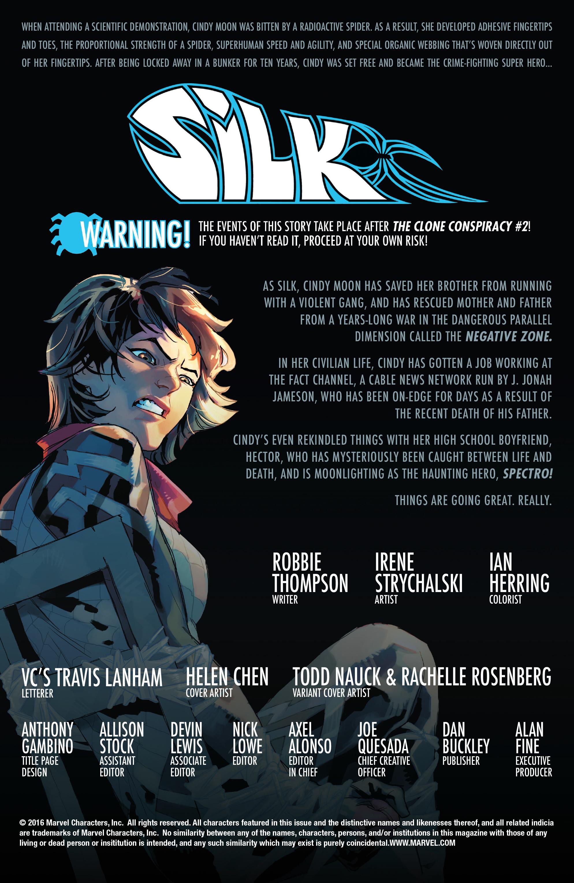Read online Silk (2016) comic -  Issue #14 - 2