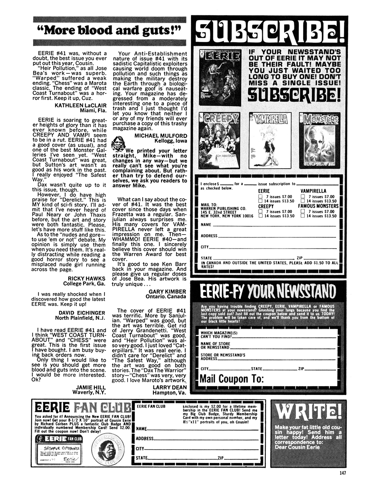Read online Eerie Archives comic -  Issue # TPB 9 - 148