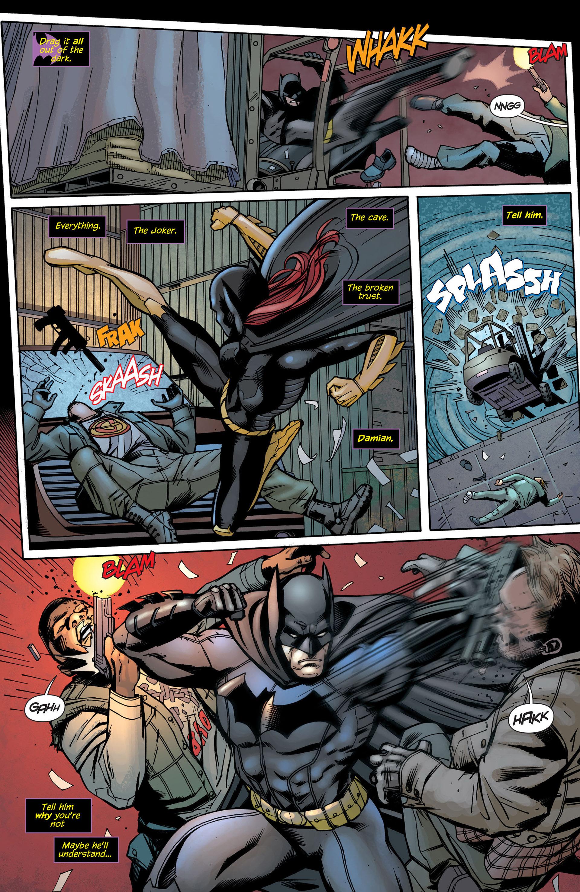 Read online Batman and Robin (2011) comic -  Issue #21 - Batman and Batgirl - 4