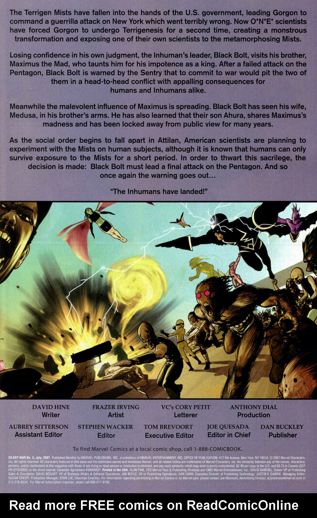 Read online Silent War comic -  Issue #5 - 2