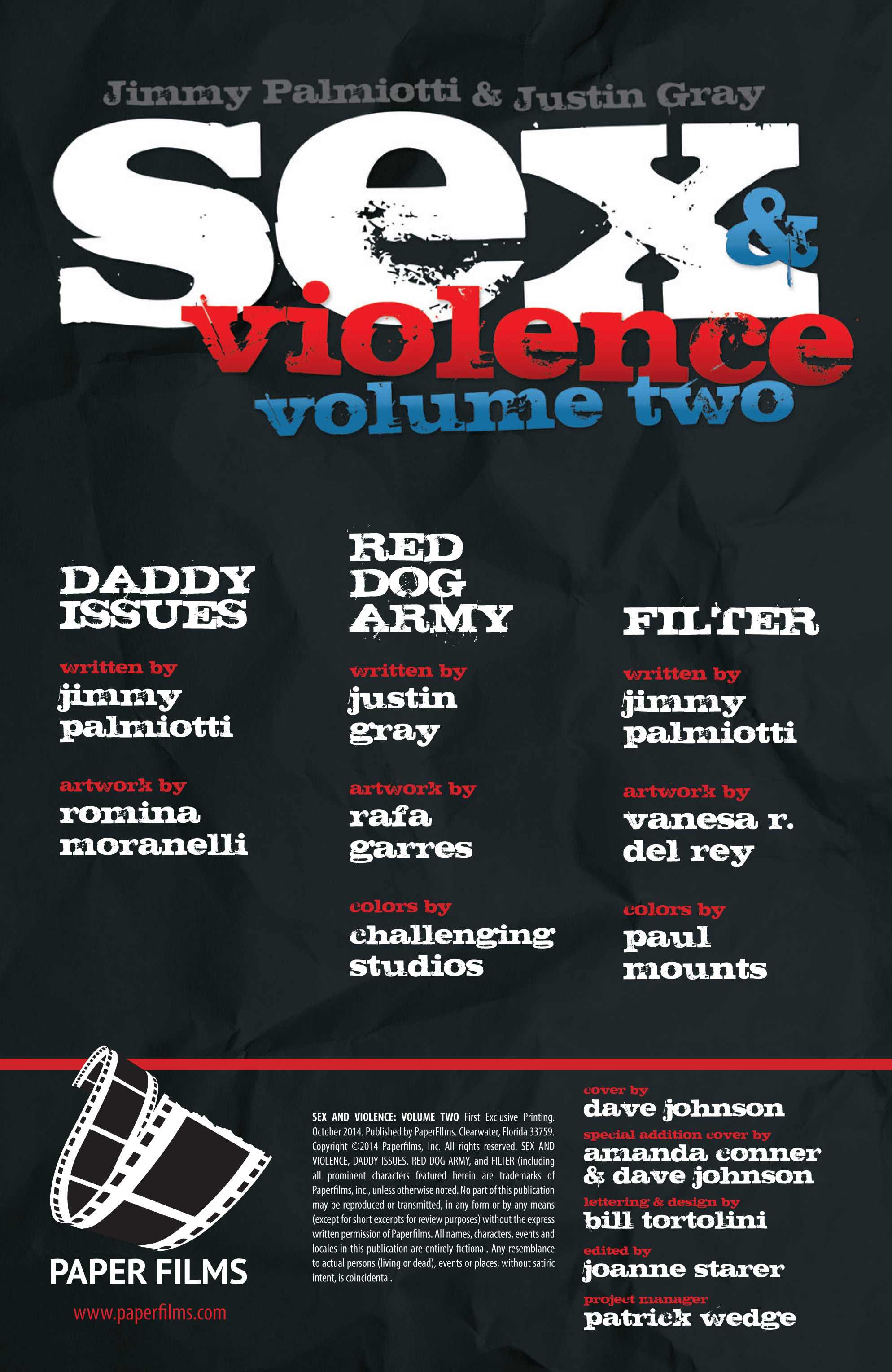 Read online Sex and Violence Vol. 2 comic -  Issue # Full - 2
