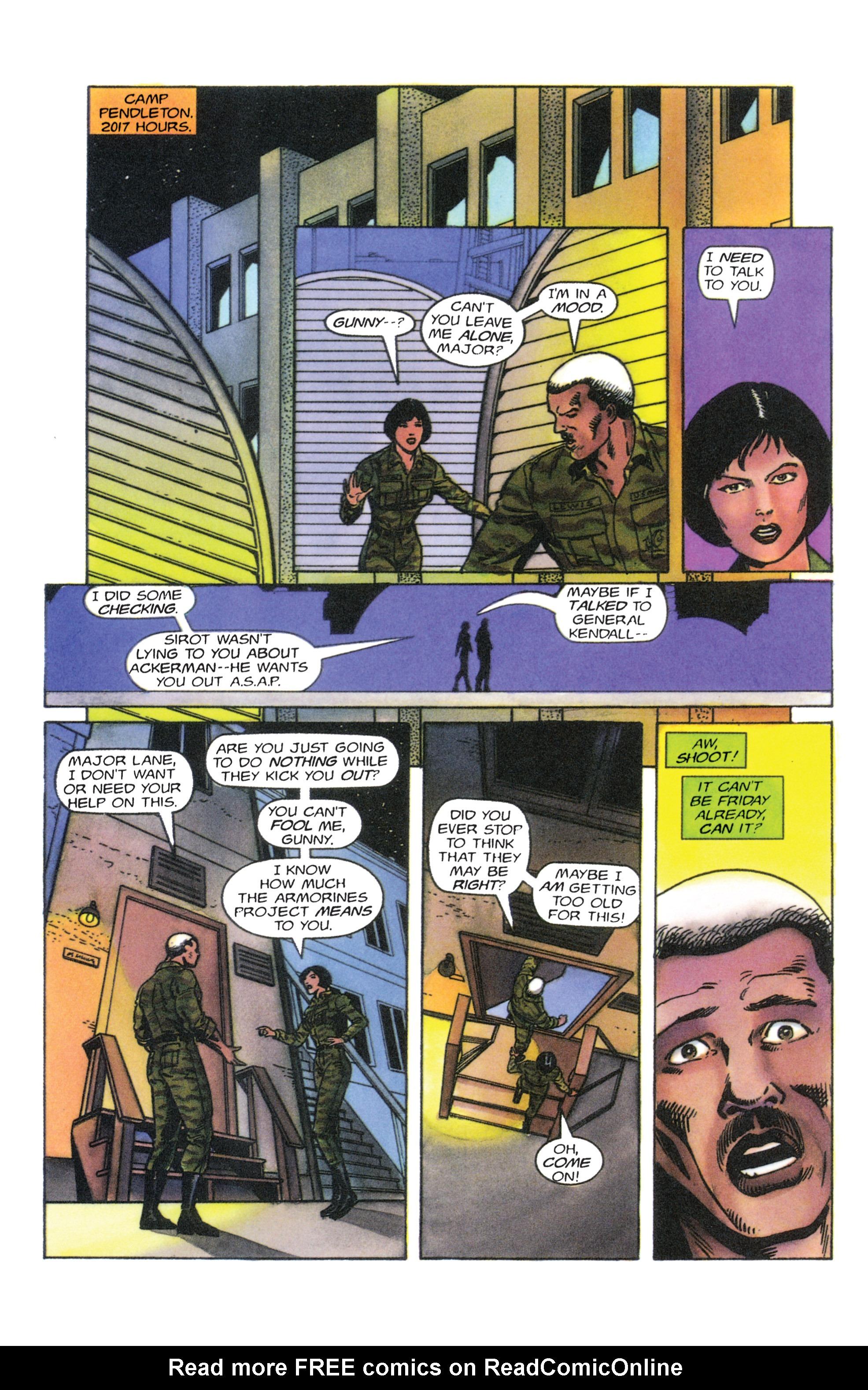 Read online Armorines comic -  Issue #4 - 17