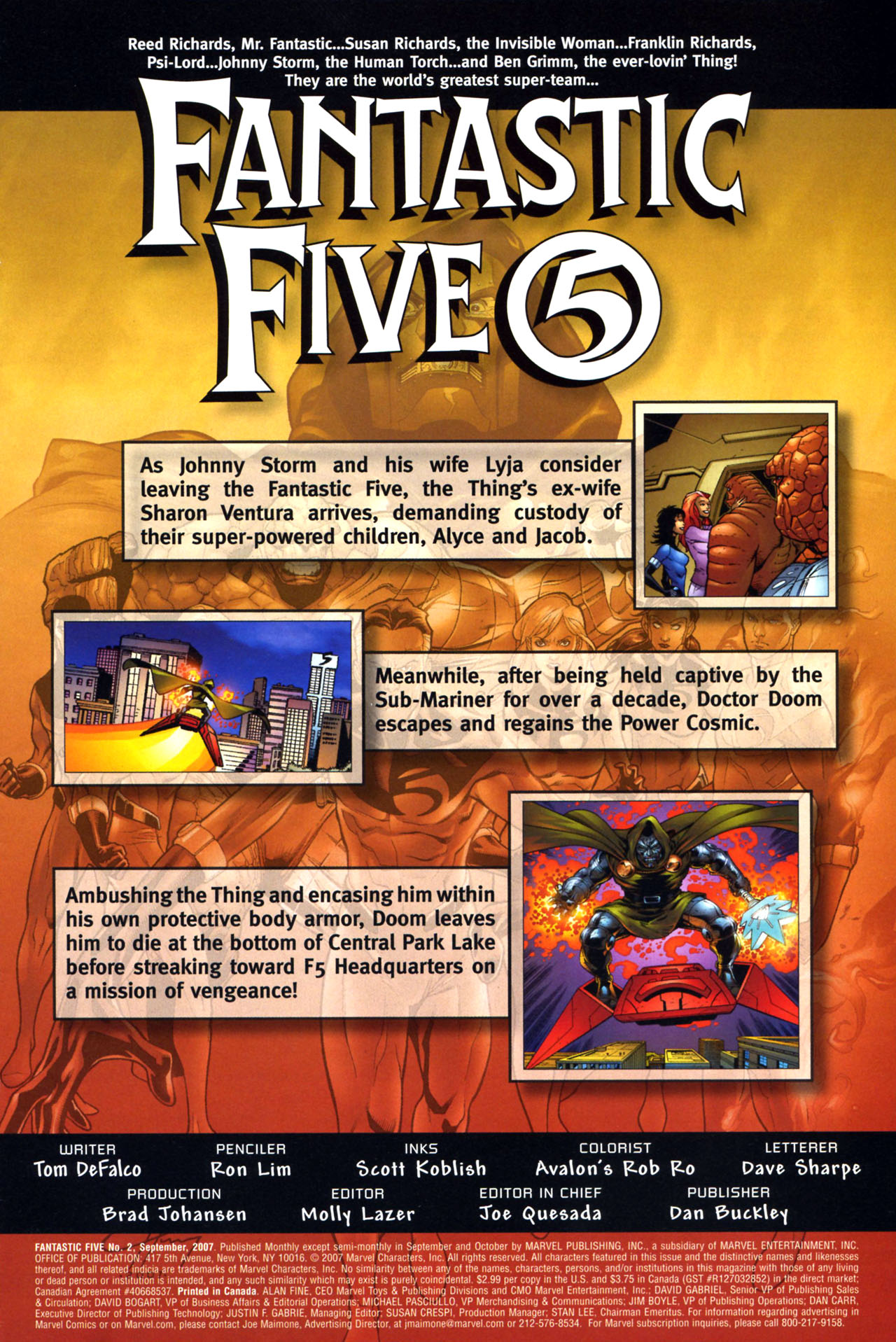 Read online Fantastic Five (2007) comic -  Issue #2 - 2