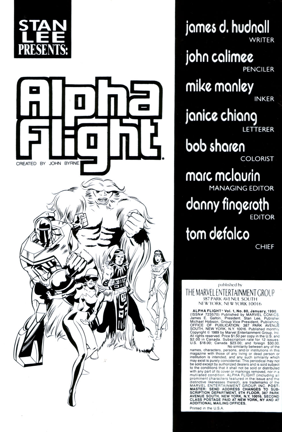Read online Alpha Flight (1983) comic -  Issue #80 - 2