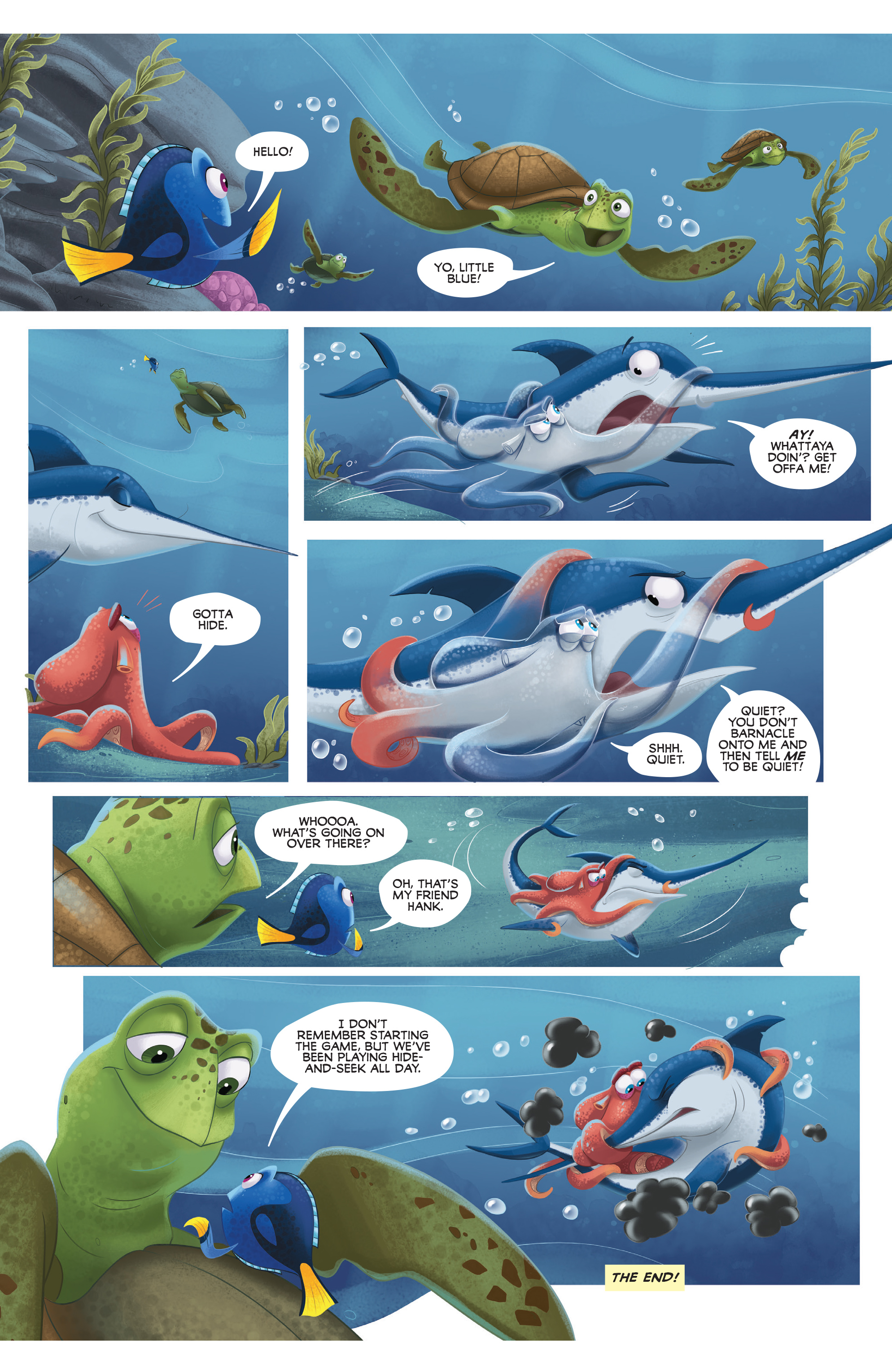 Read online Disney Pixar Finding Dory comic -  Issue #4 - 32