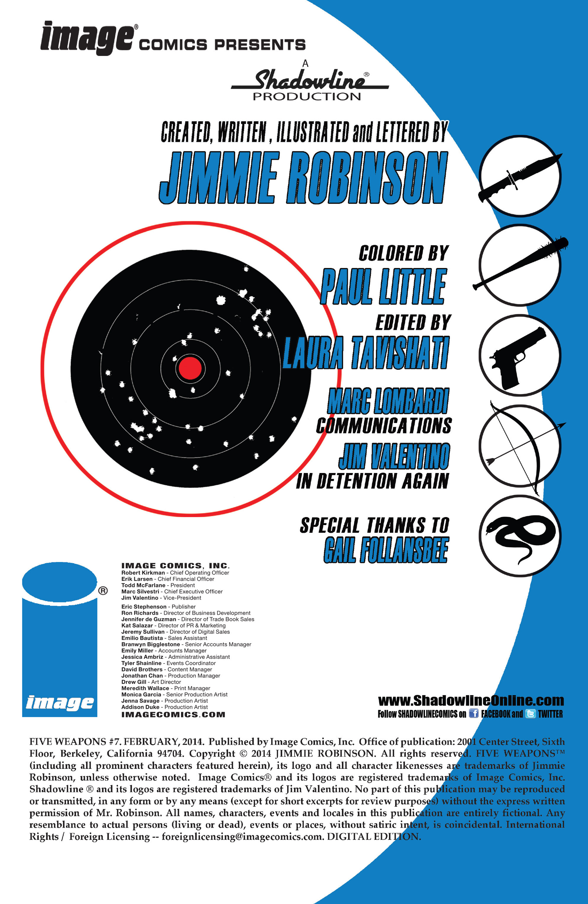 Read online Five Weapons comic -  Issue #7 - 2