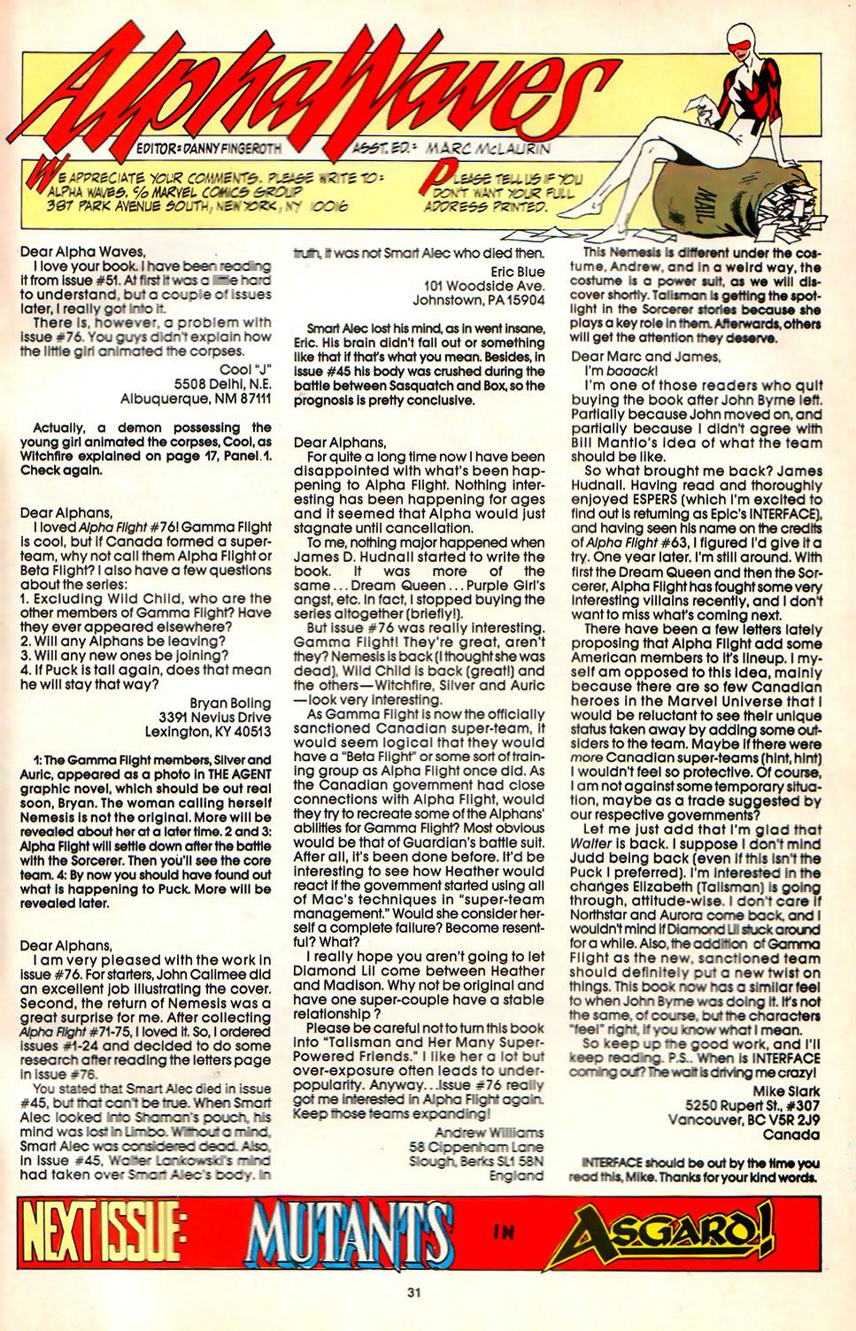 Read online Alpha Flight (1983) comic -  Issue #81 - 25