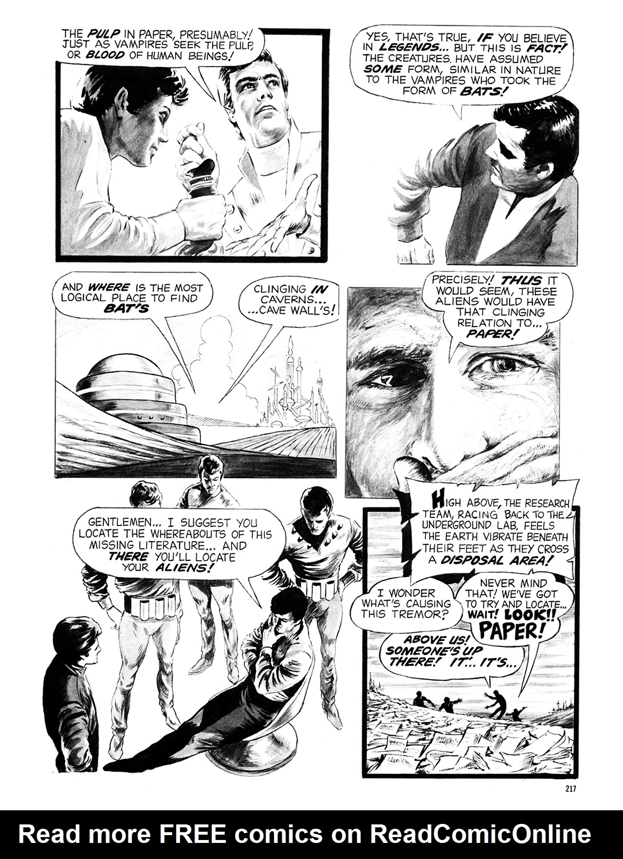 Read online Eerie Archives comic -  Issue # TPB 6 - 217