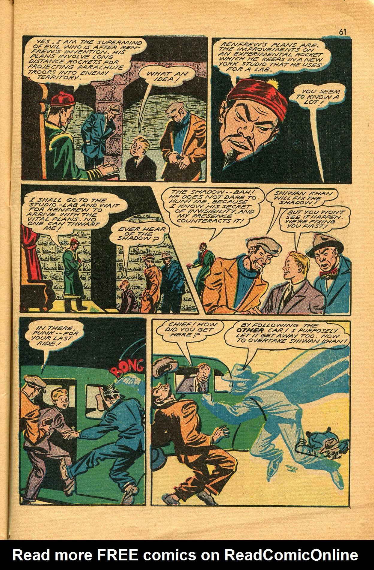 Read online Shadow Comics comic -  Issue #23 - 61