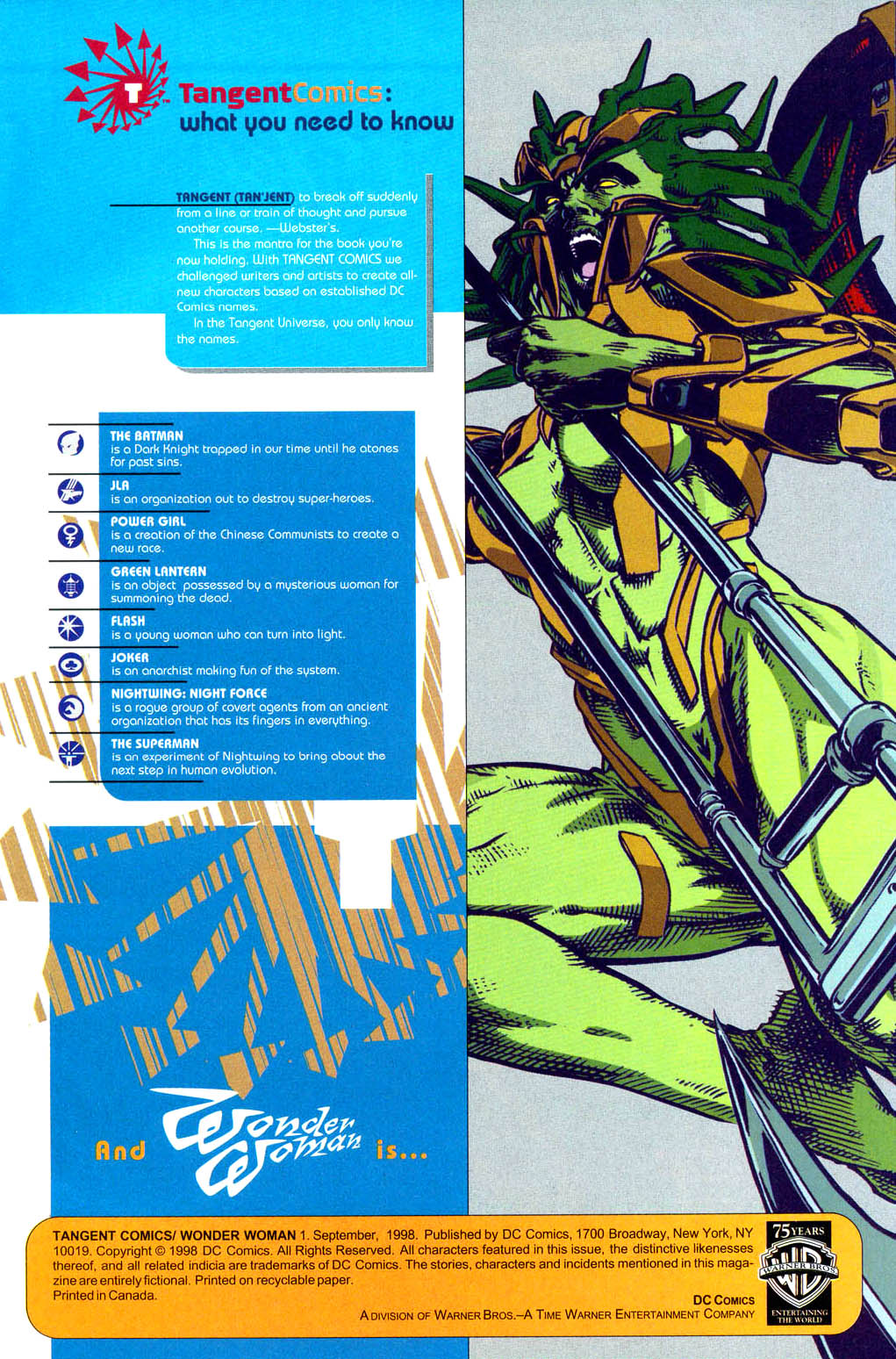 Read online Tangent Comics/ Wonder Woman comic -  Issue # Full - 2
