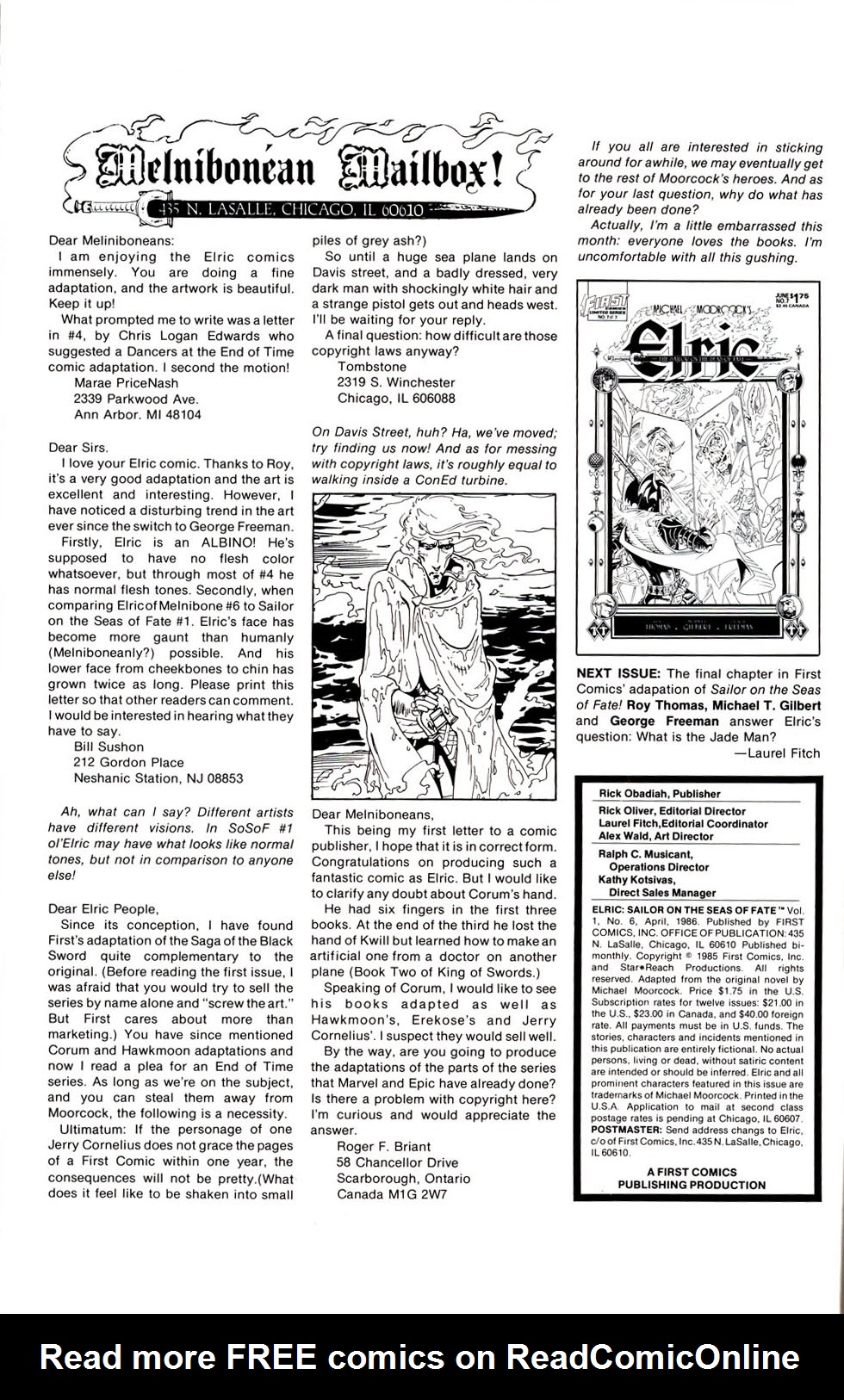 Read online Elric: Sailor on the Seas of Fate comic -  Issue #6 - 2