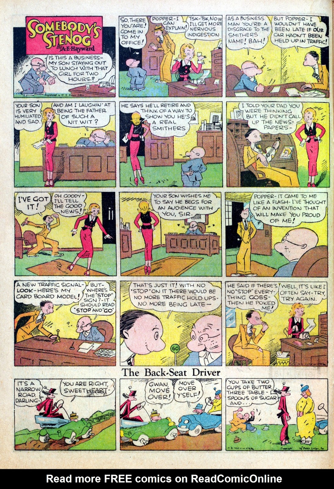 Read online Famous Funnies comic -  Issue #15 - 22