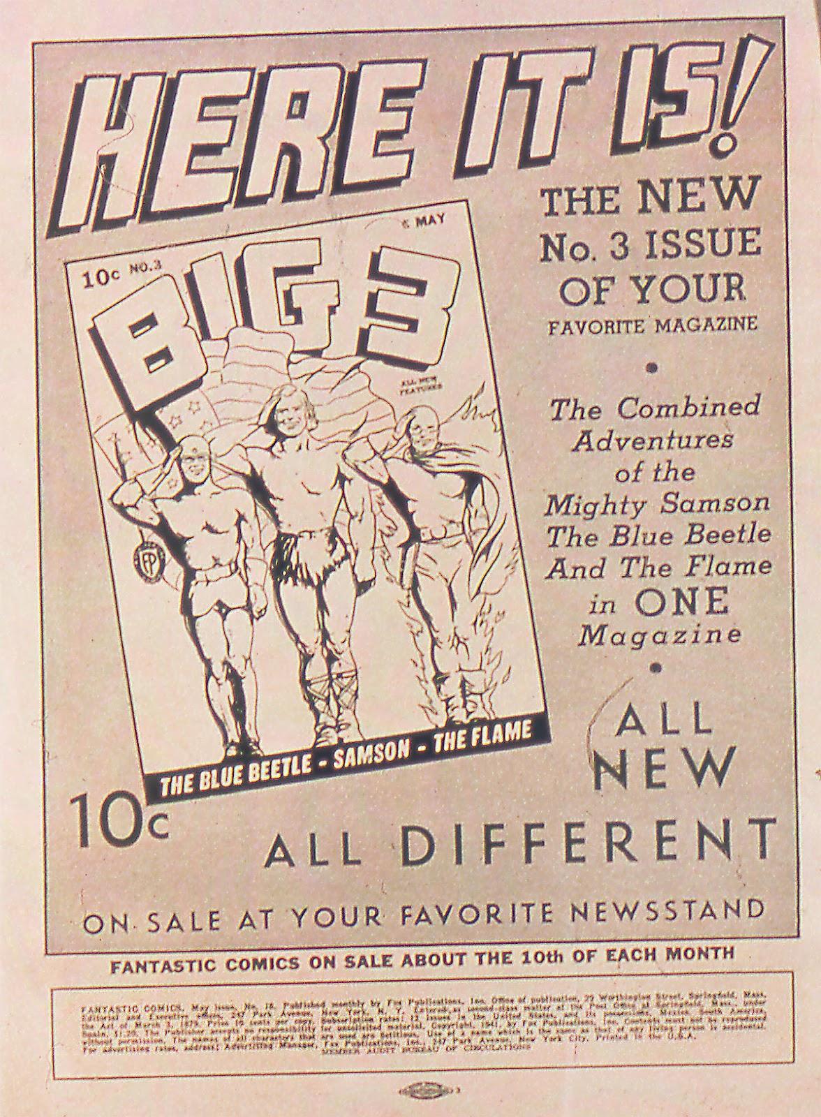 Read online Fantastic Comics comic -  Issue #18 - 2