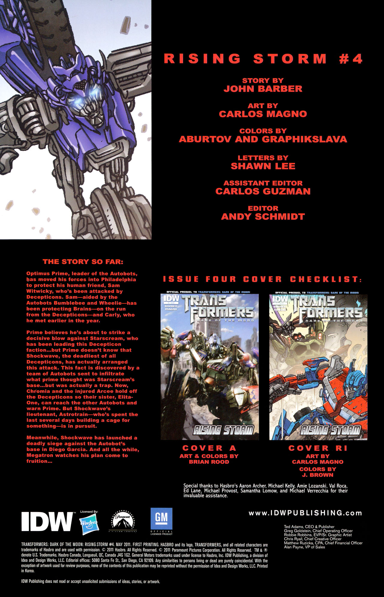 Read online Transformers: Dark of the Moon Rising Storm comic -  Issue #4 - 2