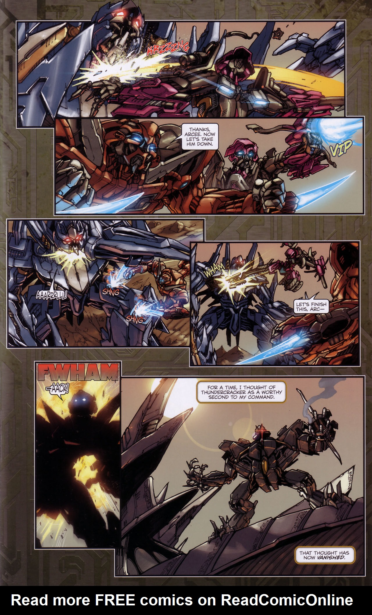 Read online Transformers: The Reign of Starscream comic -  Issue #3 - 12