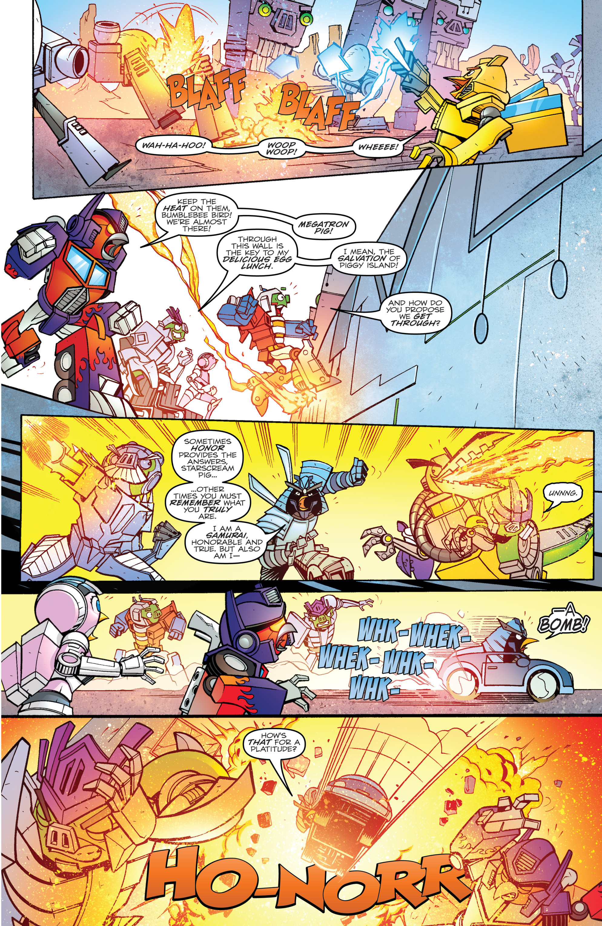 Read online Angry Birds Transformers comic -  Issue #4 - 11