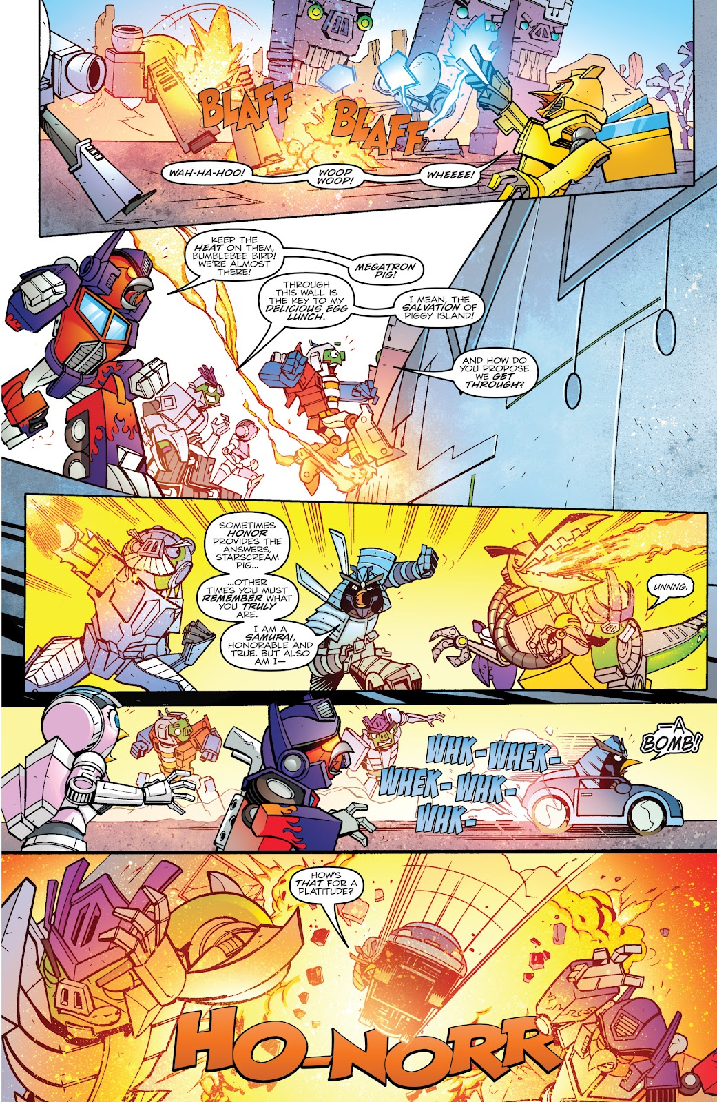 Comic Angry Birds Transformers issue 4