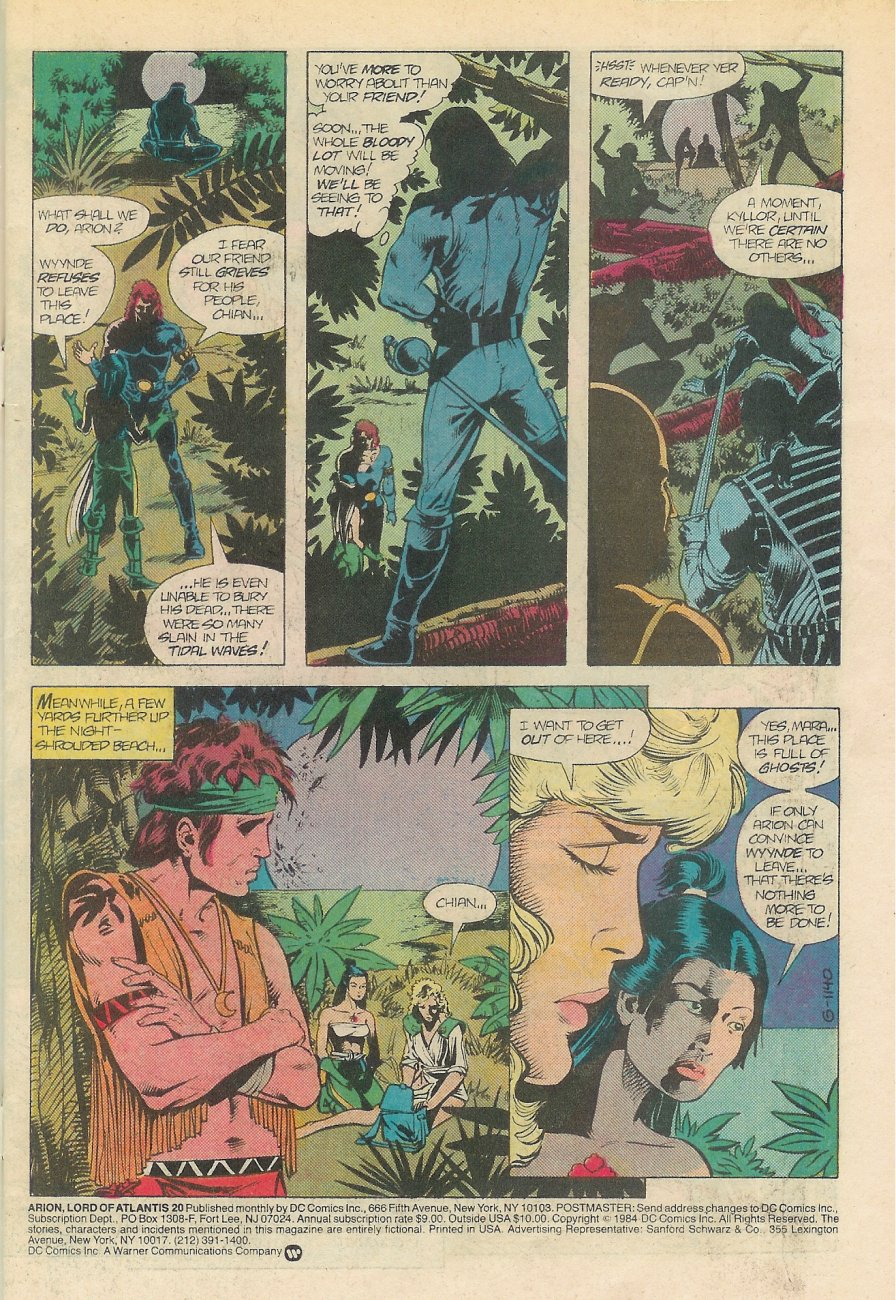 Read online Arion, Lord of Atlantis comic -  Issue #20 - 2