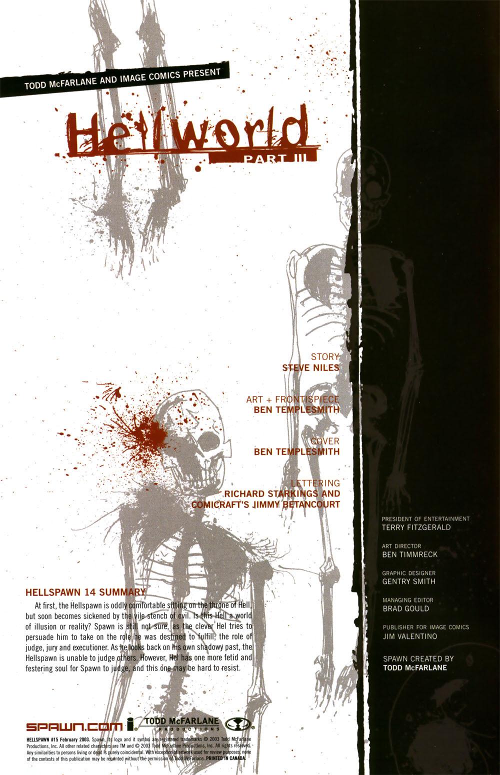 Hellspawn issue 15 - Page 1