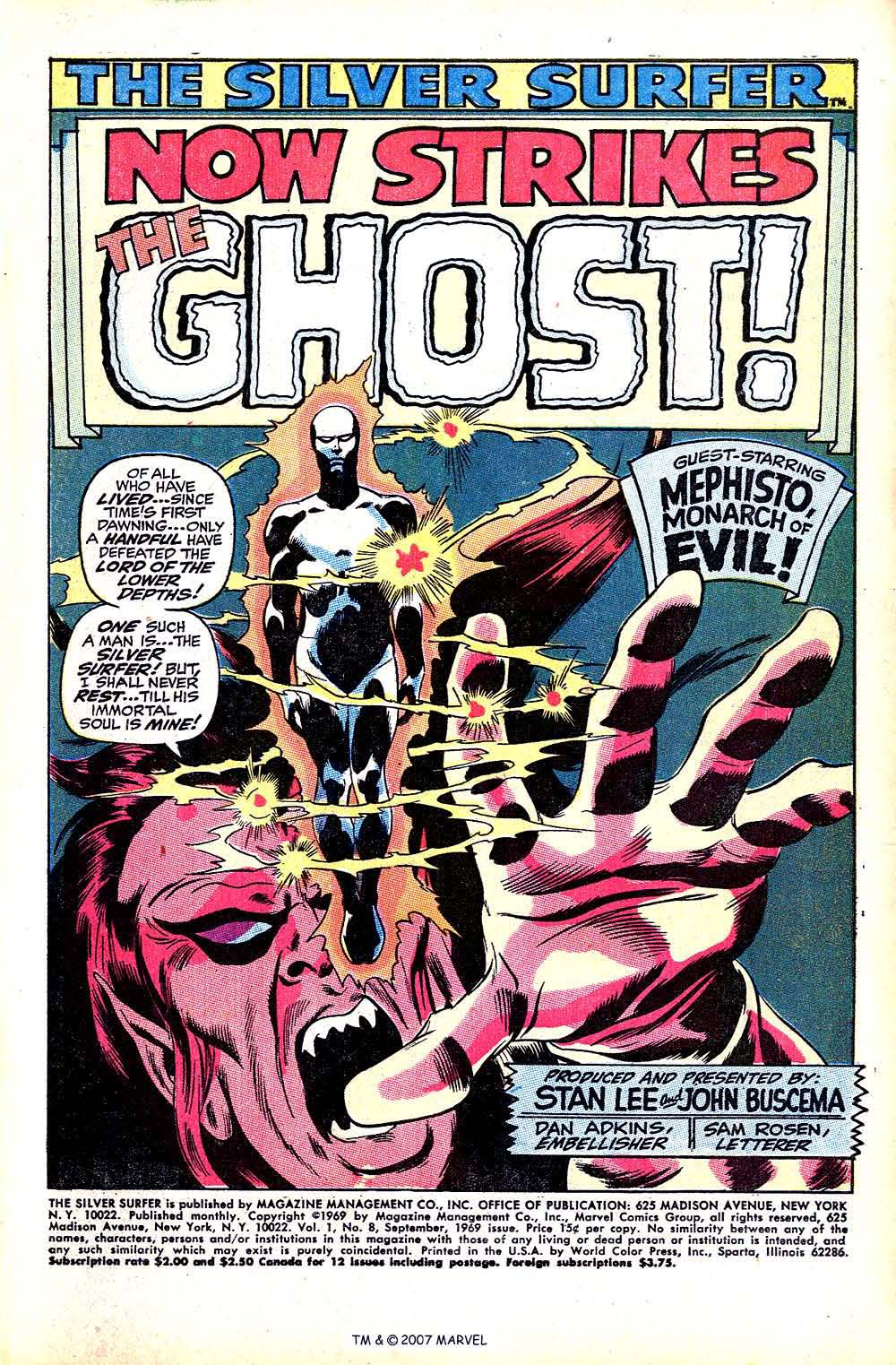 Read online Silver Surfer (1968) comic -  Issue #8 - 3