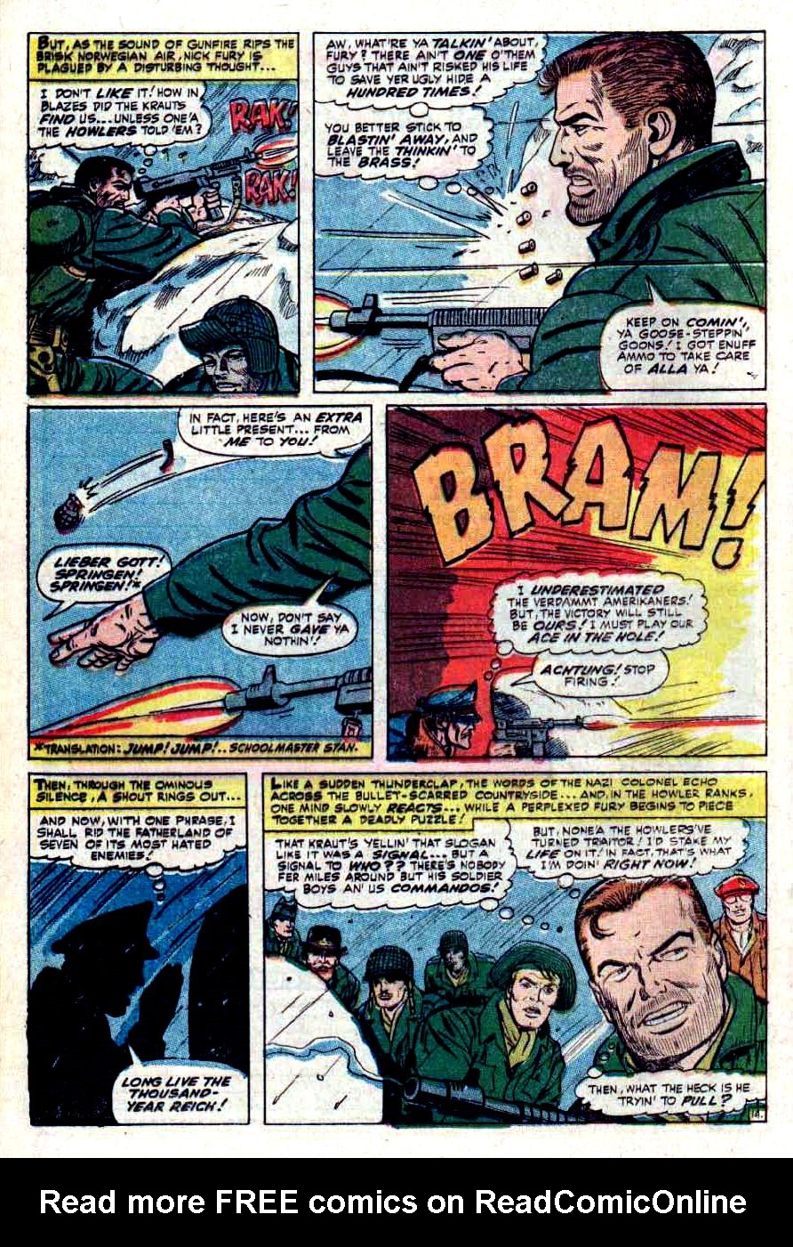 Read online Sgt. Fury comic -  Issue #32 - 20