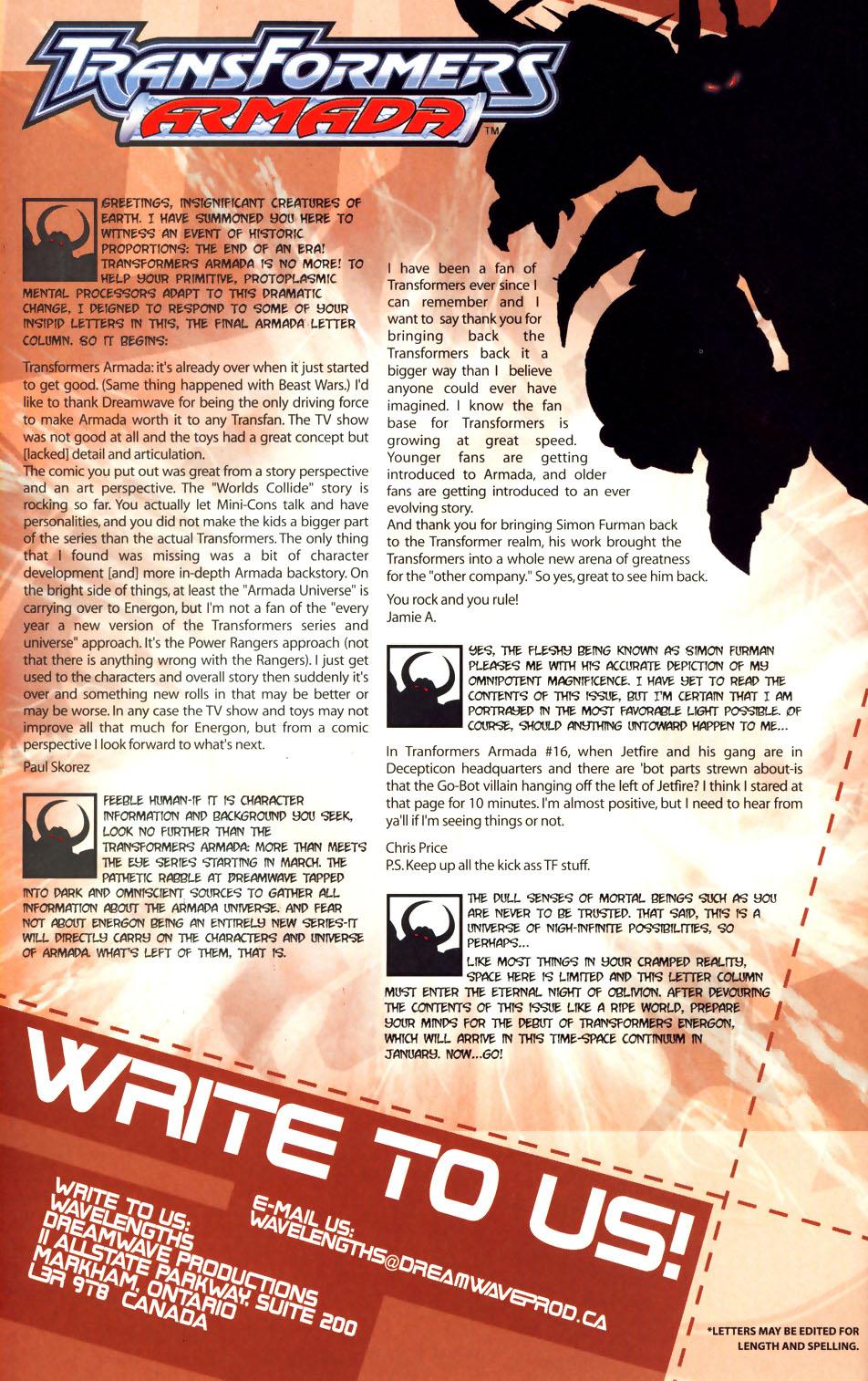 Read online Transformers Armada comic -  Issue #18 - 25