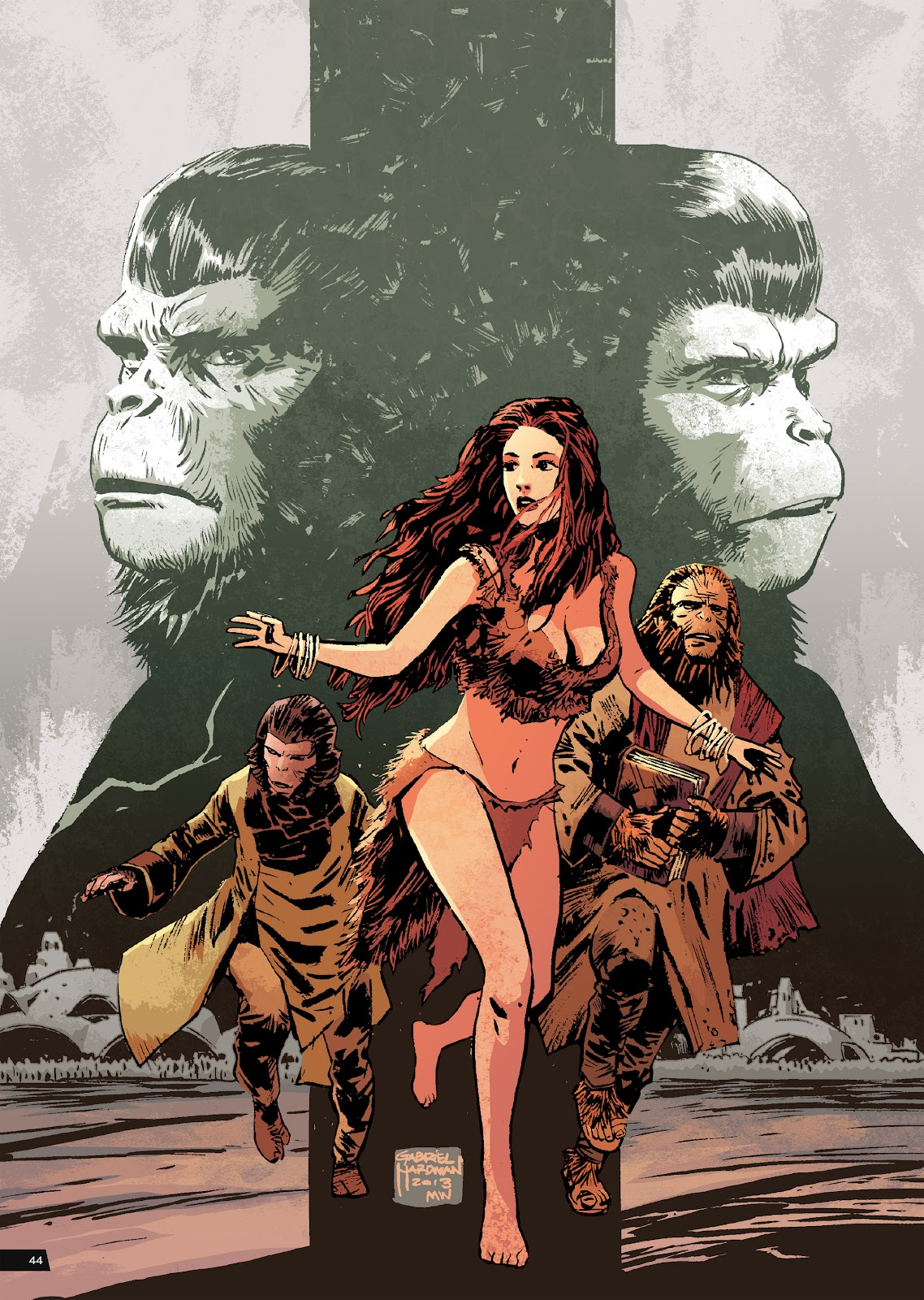 Read online Planet of the Apes Artist Tribute comic -  Issue # TPB - 44