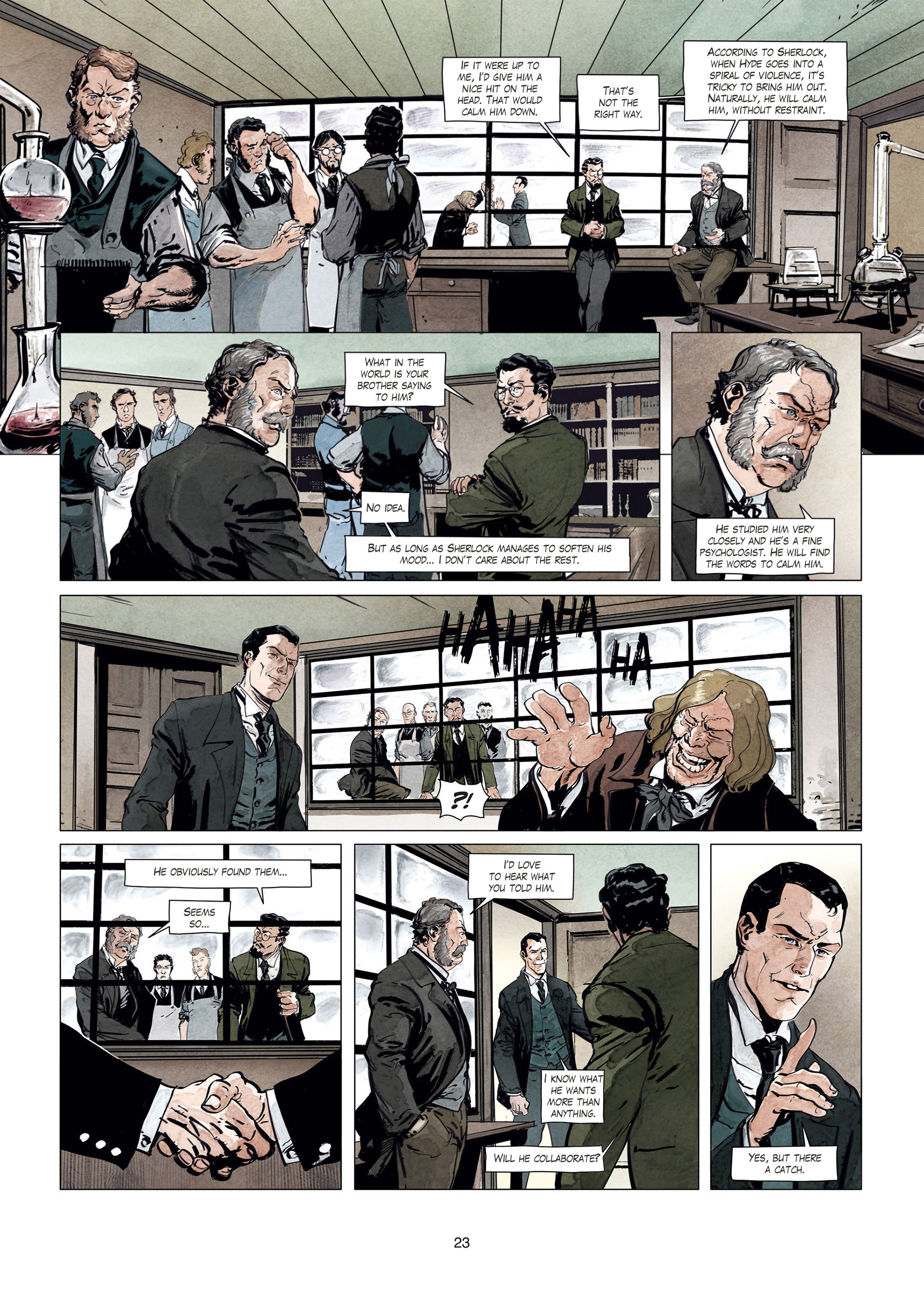 Read online Sherlock Holmes Society Tome 4 : Contamination comic -  Issue # Full - 23