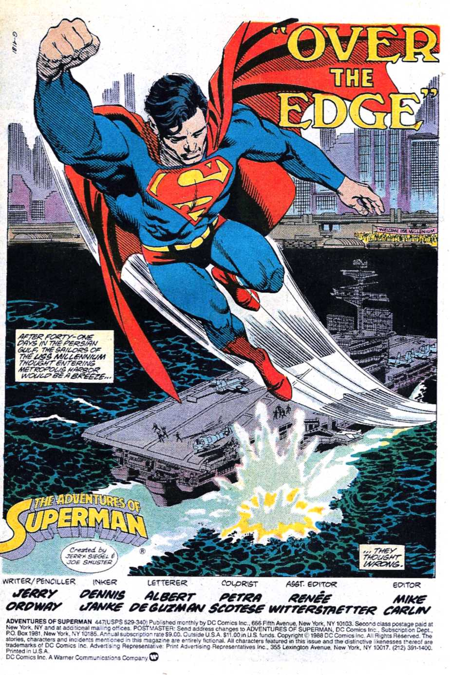 Read online Adventures of Superman (1987) comic -  Issue #447 - 2