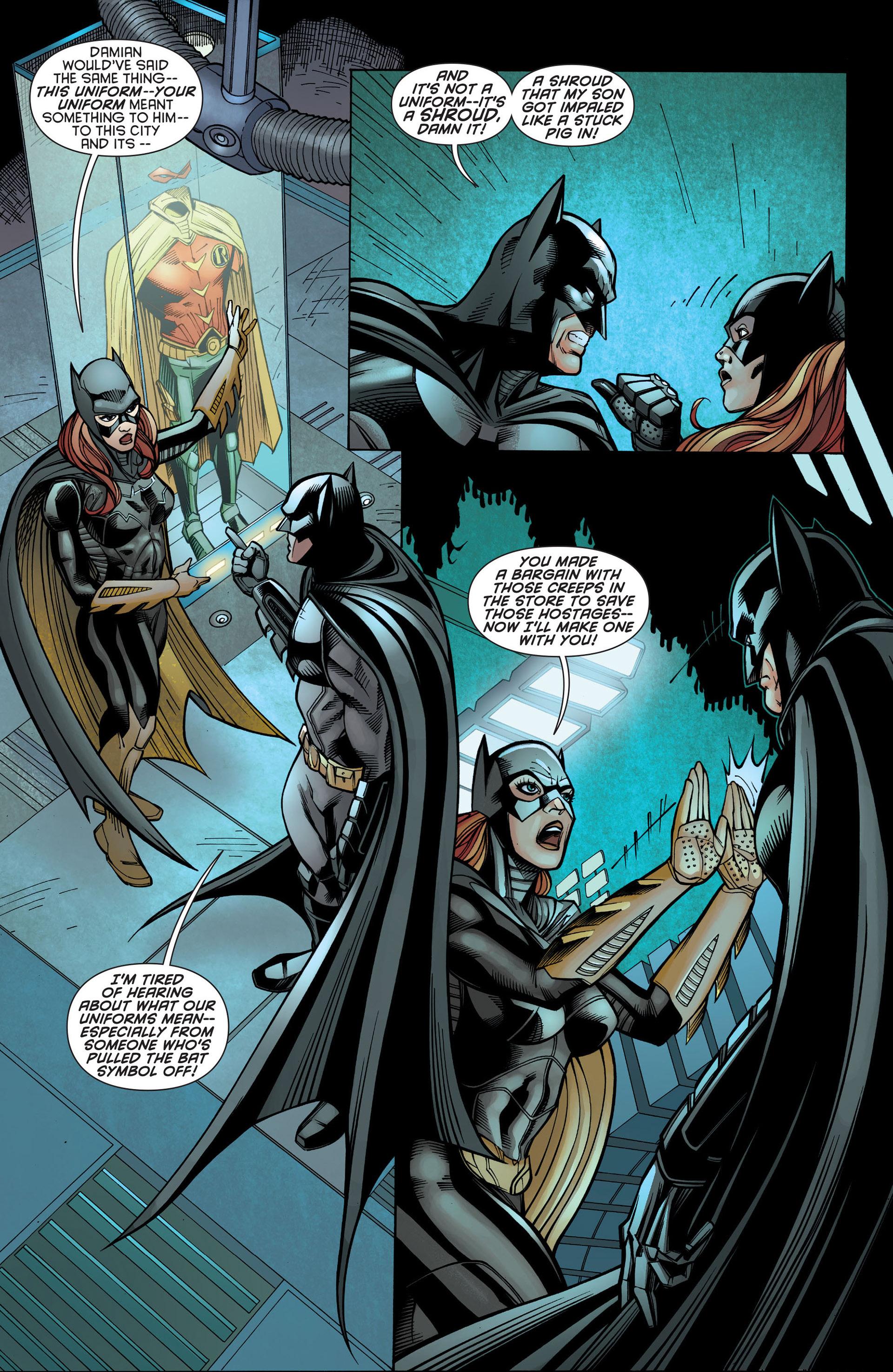 Read online Batman and Robin (2011) comic -  Issue #21 - Batman and Batgirl - 18
