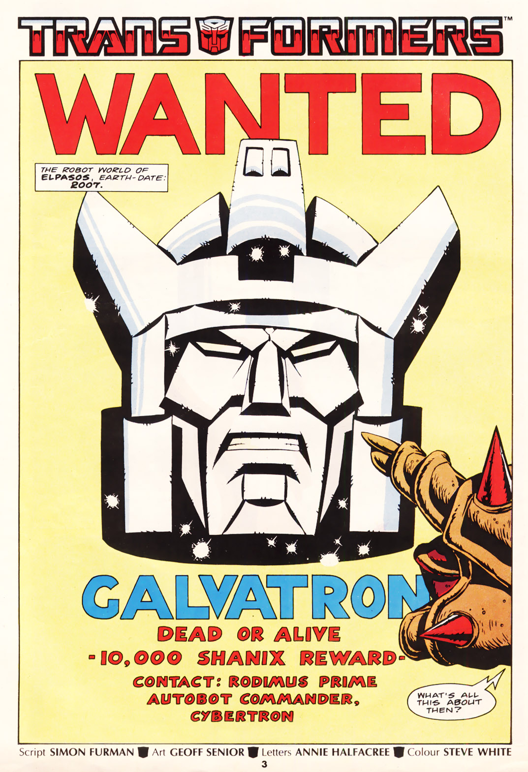 The Transformers (UK) 221 Page 1