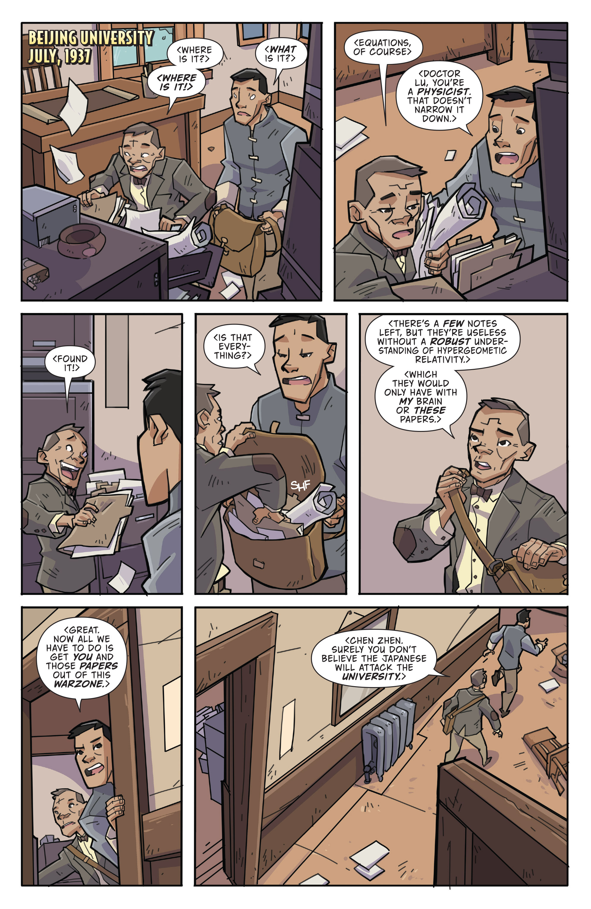 Read online Atomic Robo and the Temple of Od comic -  Issue #3 - 3