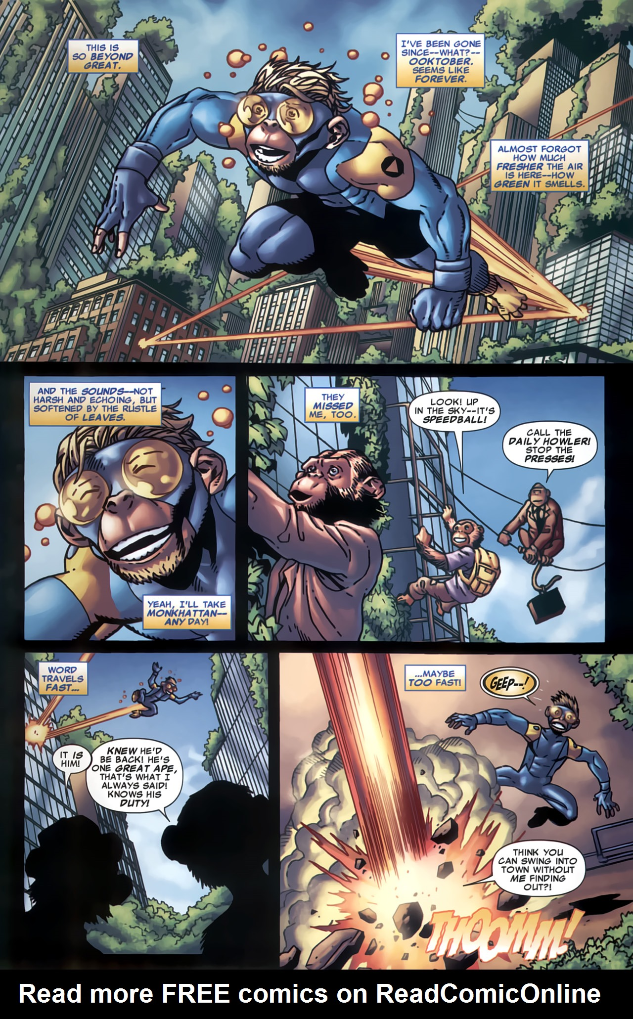 Read online Marvel Apes: Speedball Special comic -  Issue # Full - 4