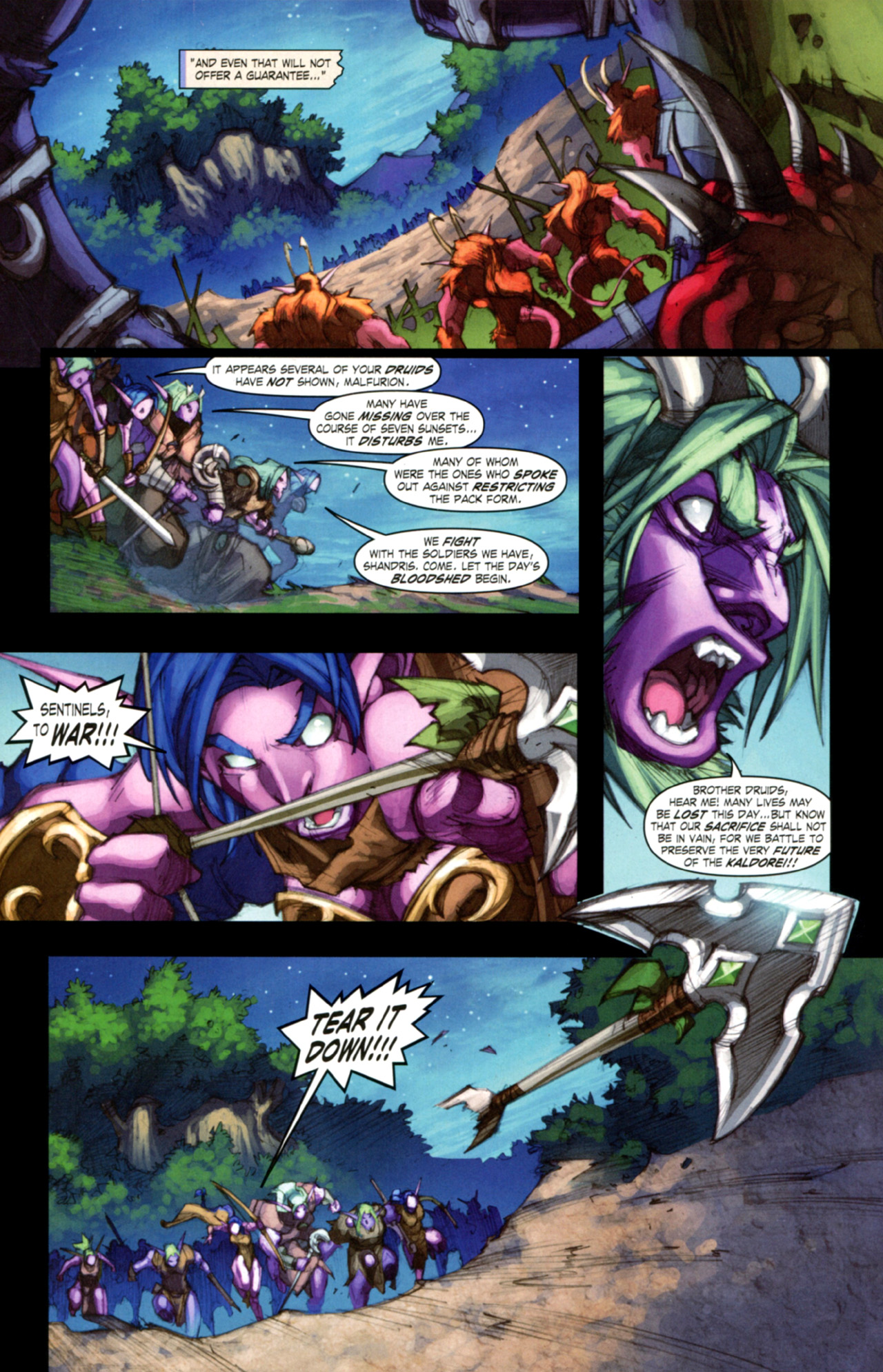 Read online World of Warcraft: Curse of the Worgen comic -  Issue #3 - 18