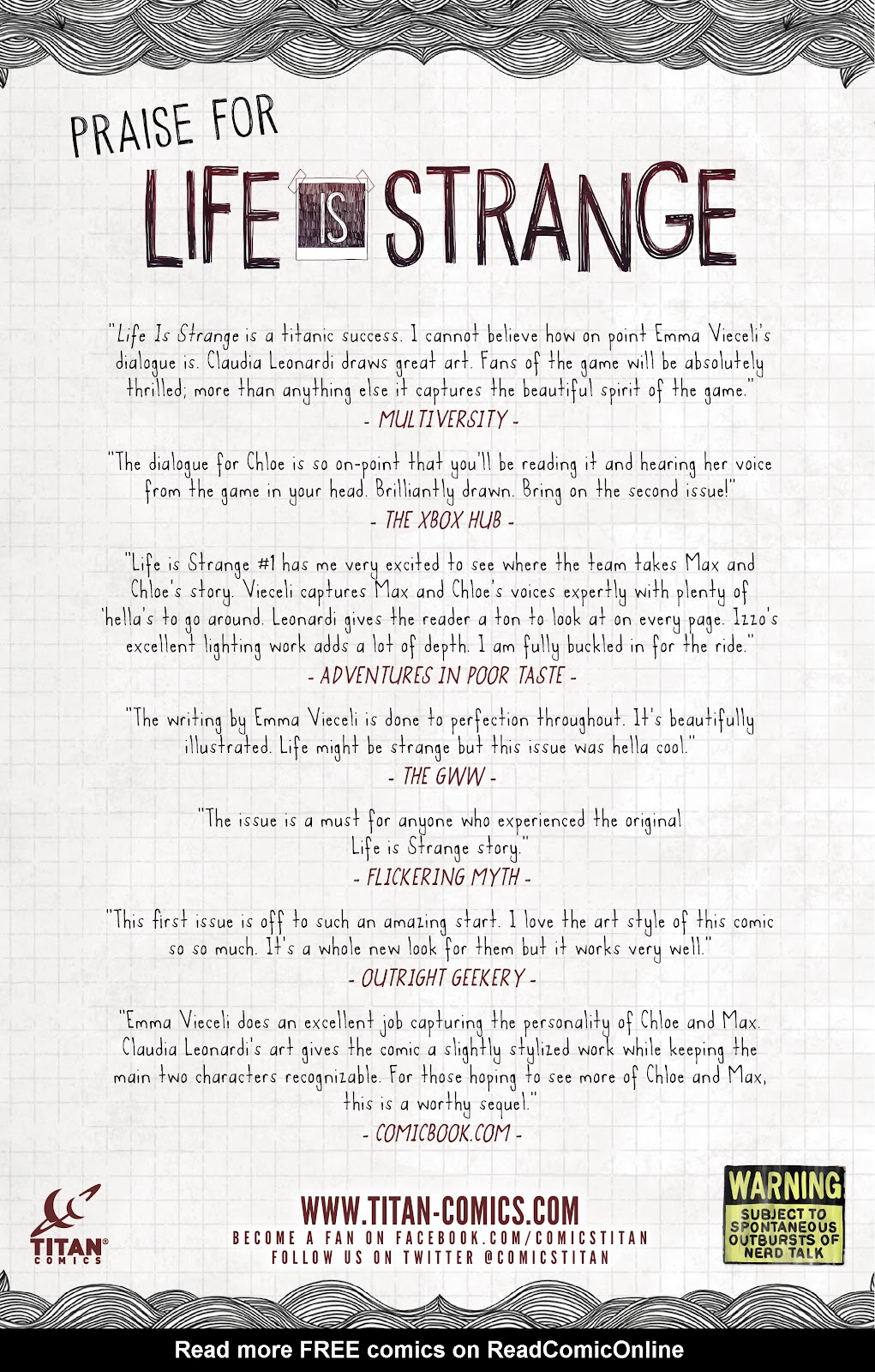Read online Life is Strange comic -  Issue #9 - 34