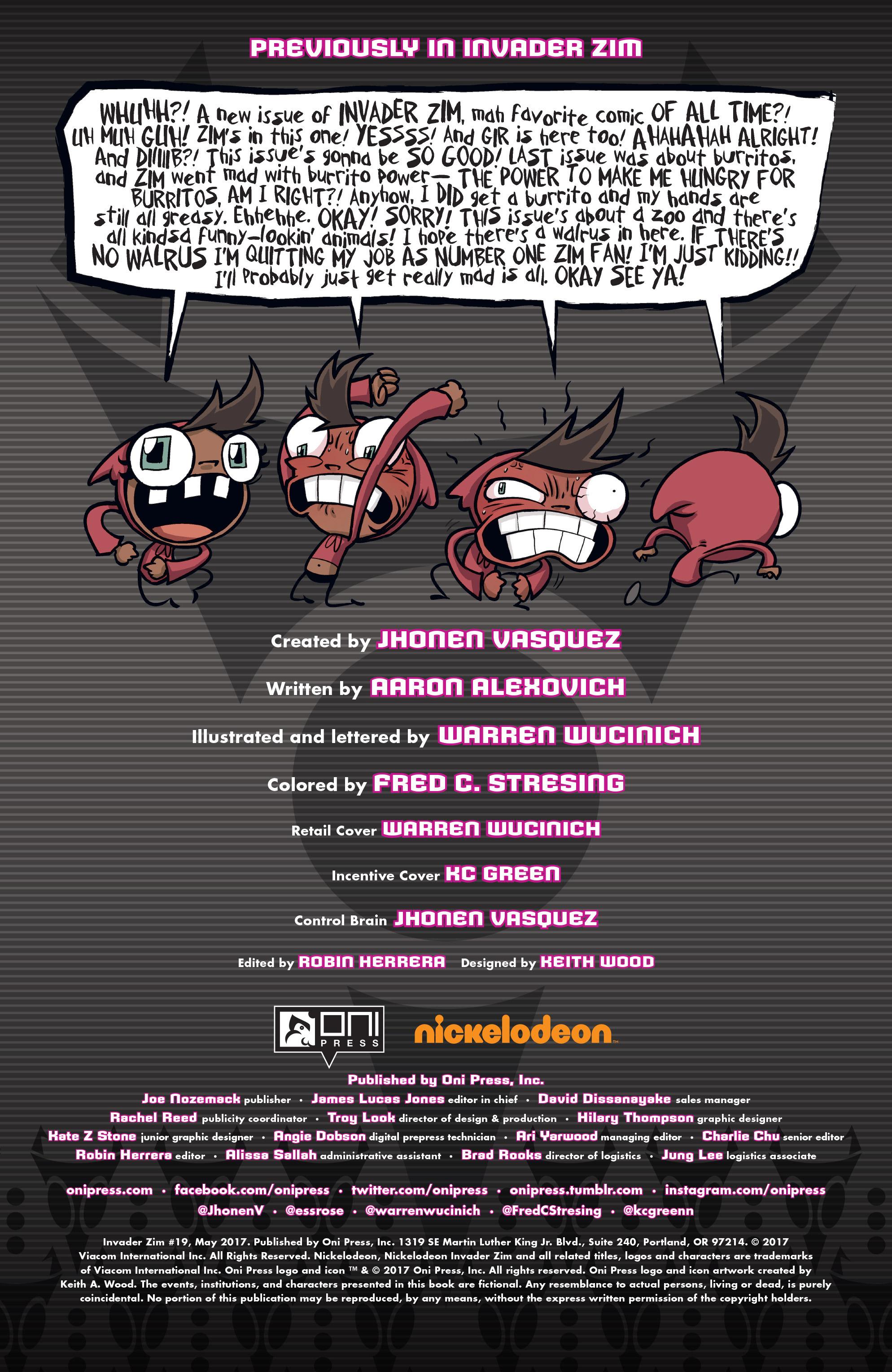 Read online Invader Zim comic -  Issue #19 - 2